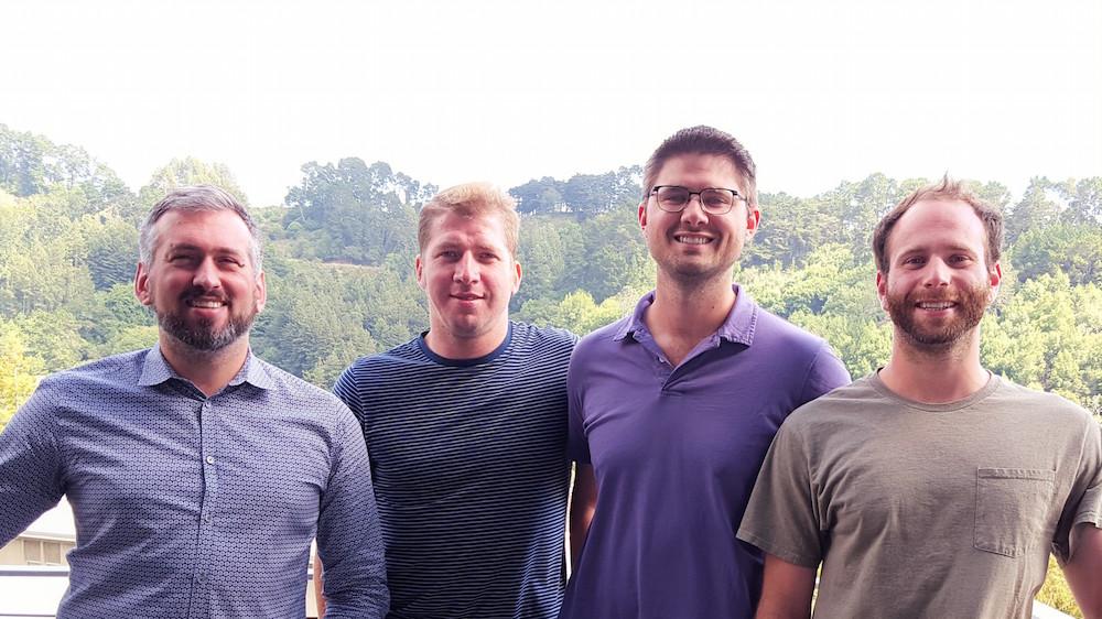 The Sepion Technologies team:Brett Helms, Kenny Boblak, Peter Frischmann, and Jon-Michael Alessandro