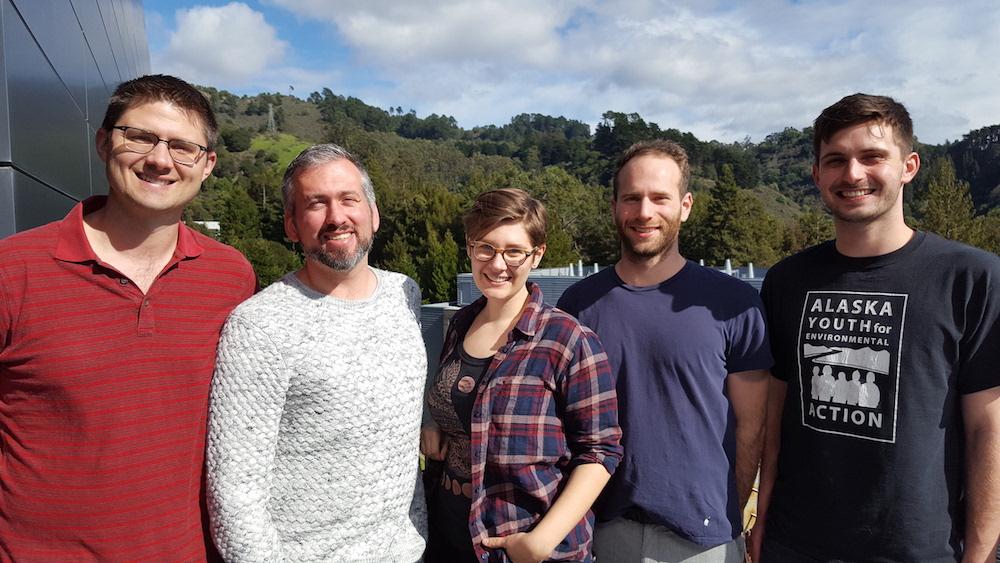 Peter Frischmann, Brett Helms, Kira Gardner, Jon Alessandro, and Max Lyons