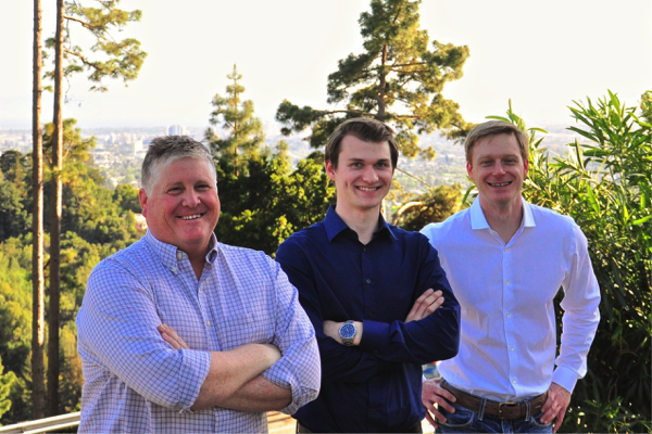 Nelumbo cofounders Dave Walther, Ph.D., Liam Berryman, and Lance Brockway, Ph.D.