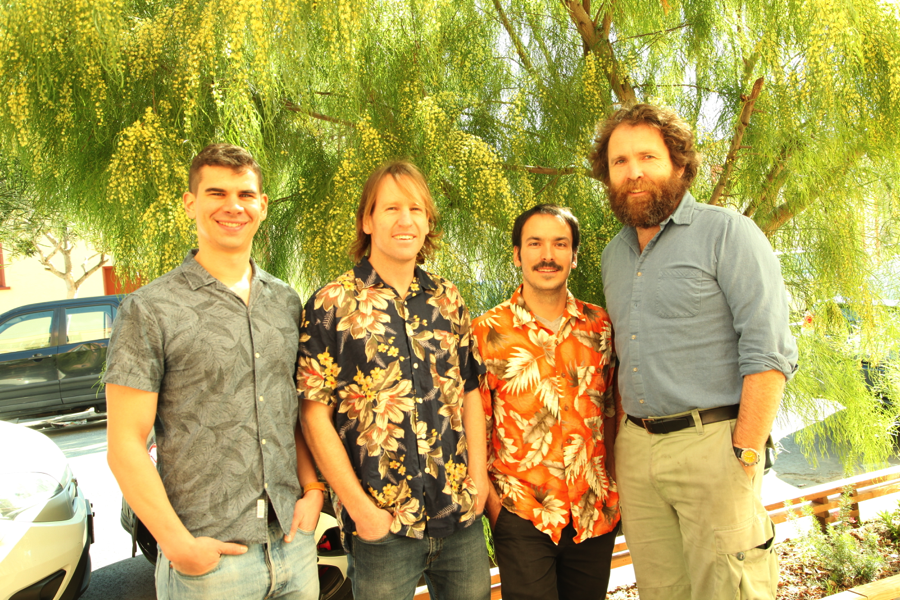 Cofounders Vince Romanin, Ph.D., Pete Lynn, Adrien Benusiglio, Ph.D., and Saul Griffith, Ph.D.