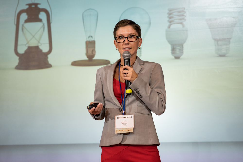 Jessica Morrison on stage at  Activate 2017