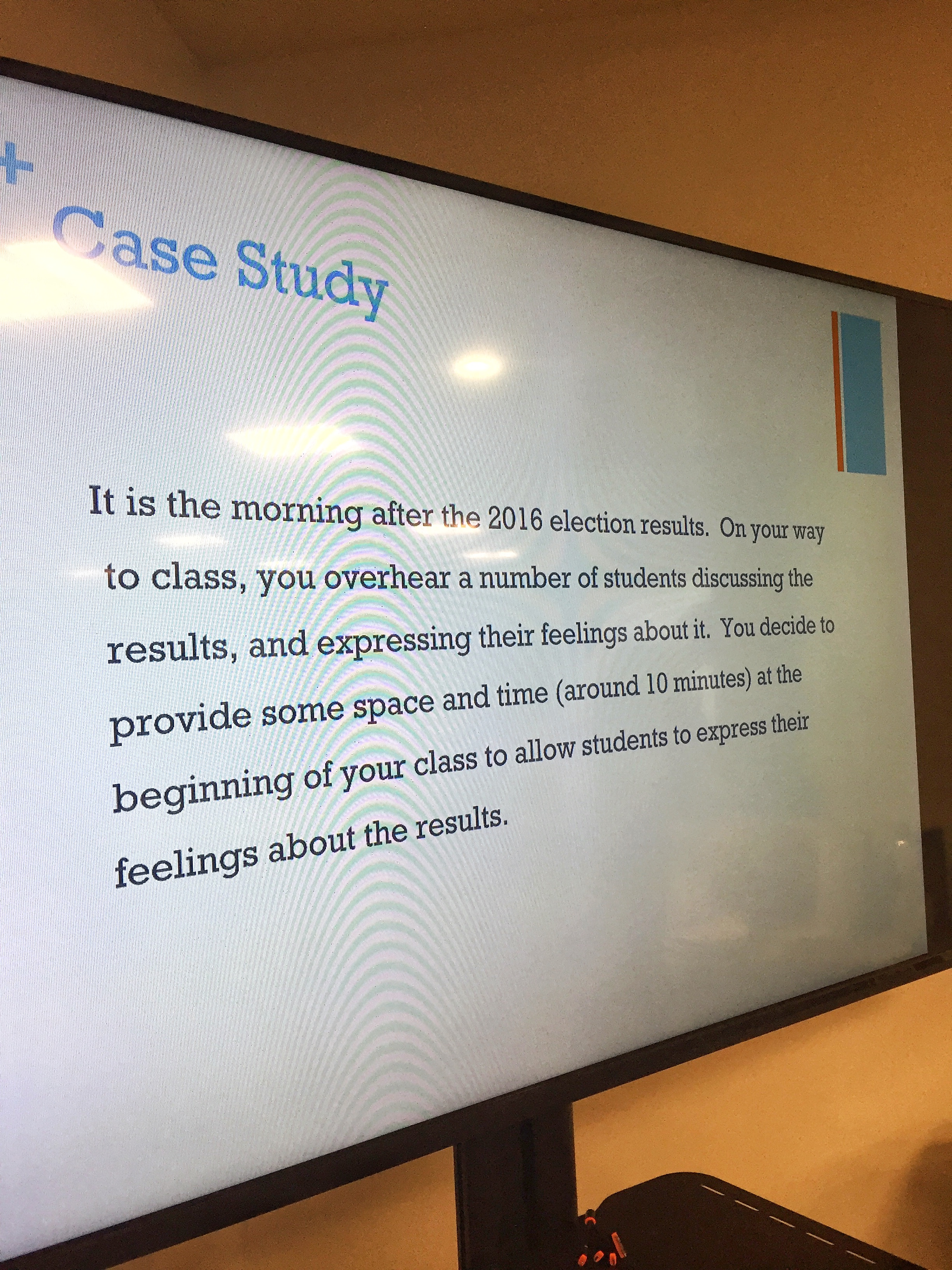 Case study used in SPO 100 for in-class discussion.