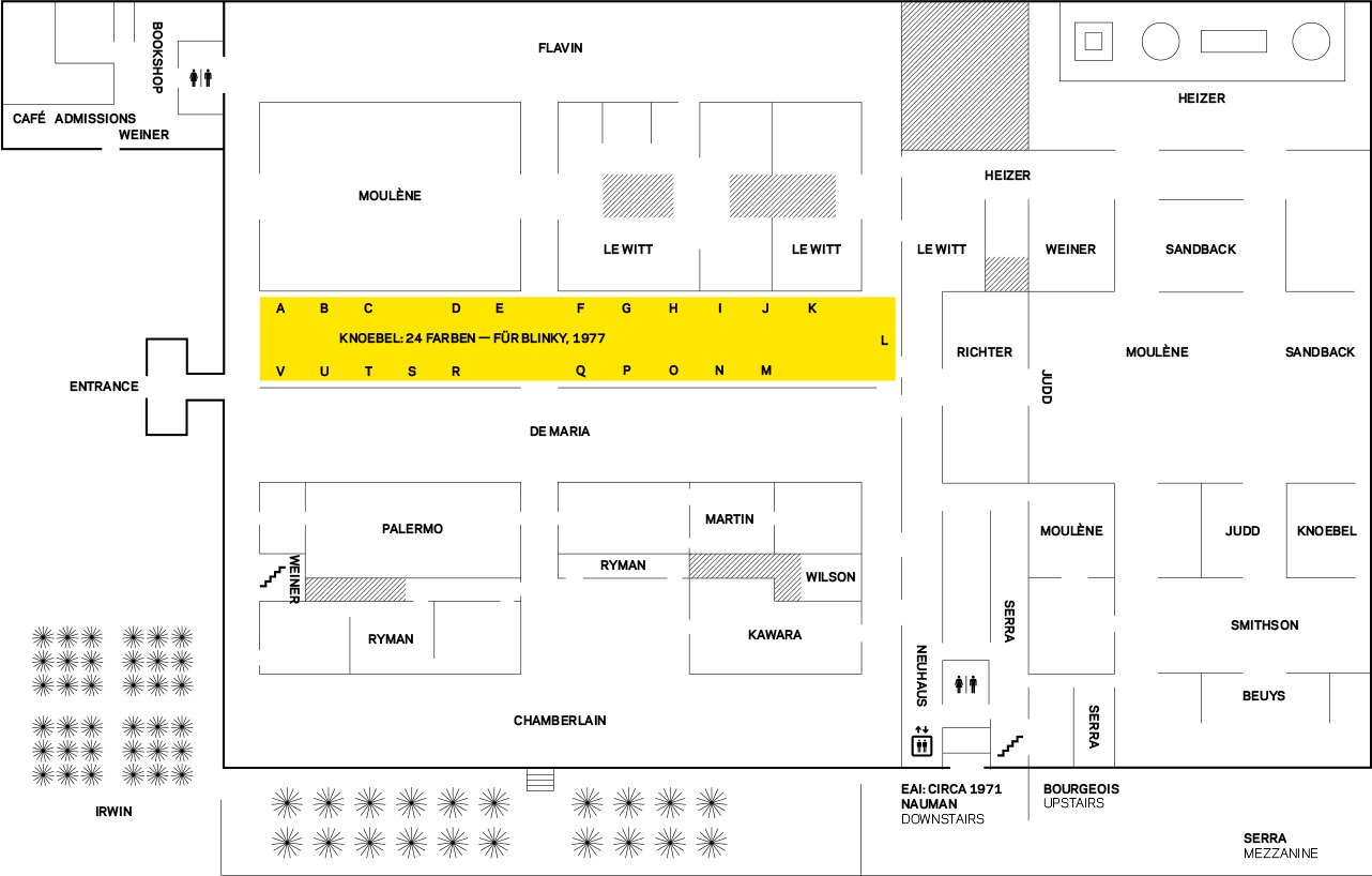 Map of Dia:Beacon — highlighted area indicates gallery in which  24 Farben  was installed