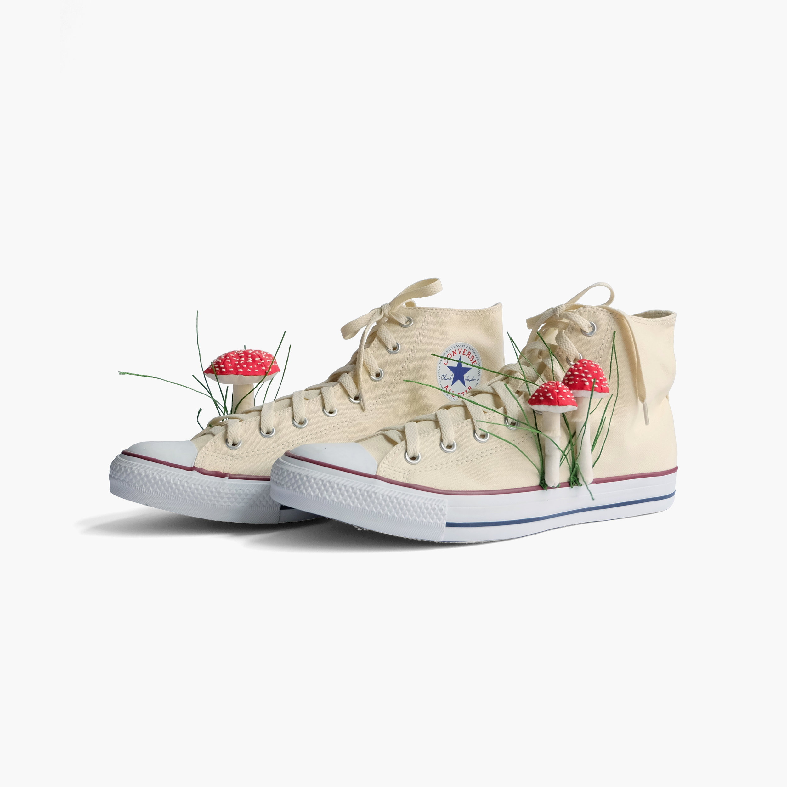 Portable Nature for Urban Dwellers  Converse hi-tops, fiberfill, cotton cloth, embroidery floss 12 x 8 x 6 in 2014