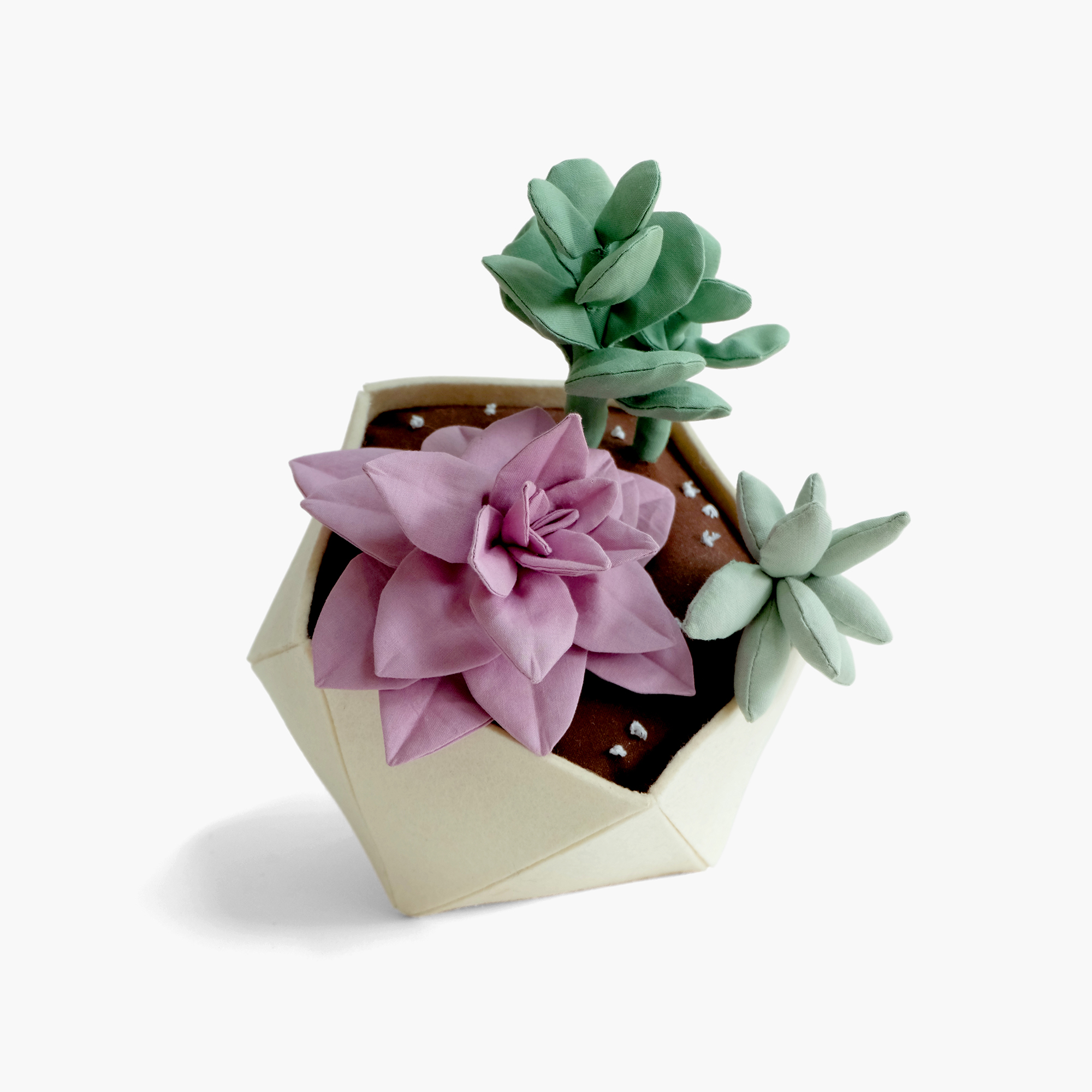 Garden Apartment    Succulents in geodesic planter   Fiberfill, felt, cotton cloth, embroidery floss 9 x 7 x 8.5 in 2014