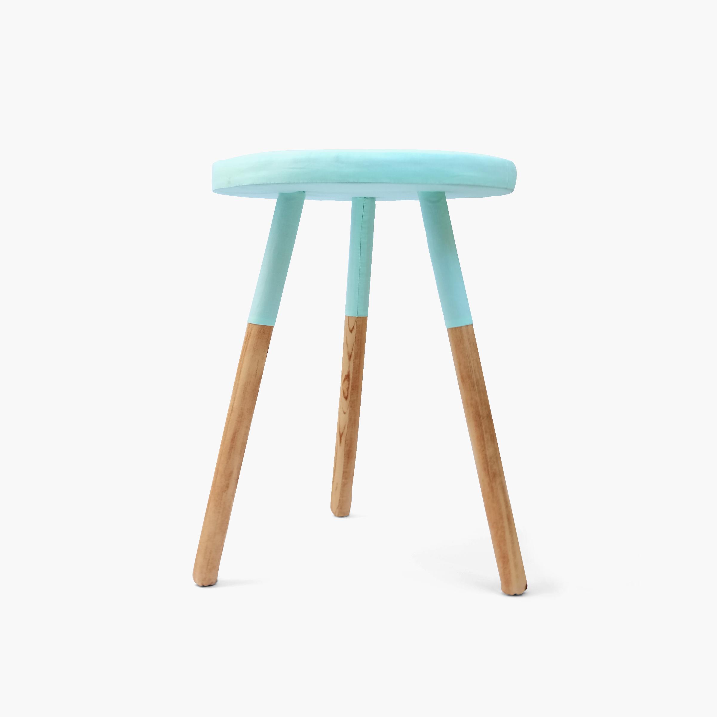 DIY Weekend    Paint-dipped milking stool   Hardwood dowel, foam, felt, cotton cloth 18.5 x 13.5 x 13.5 in 2015