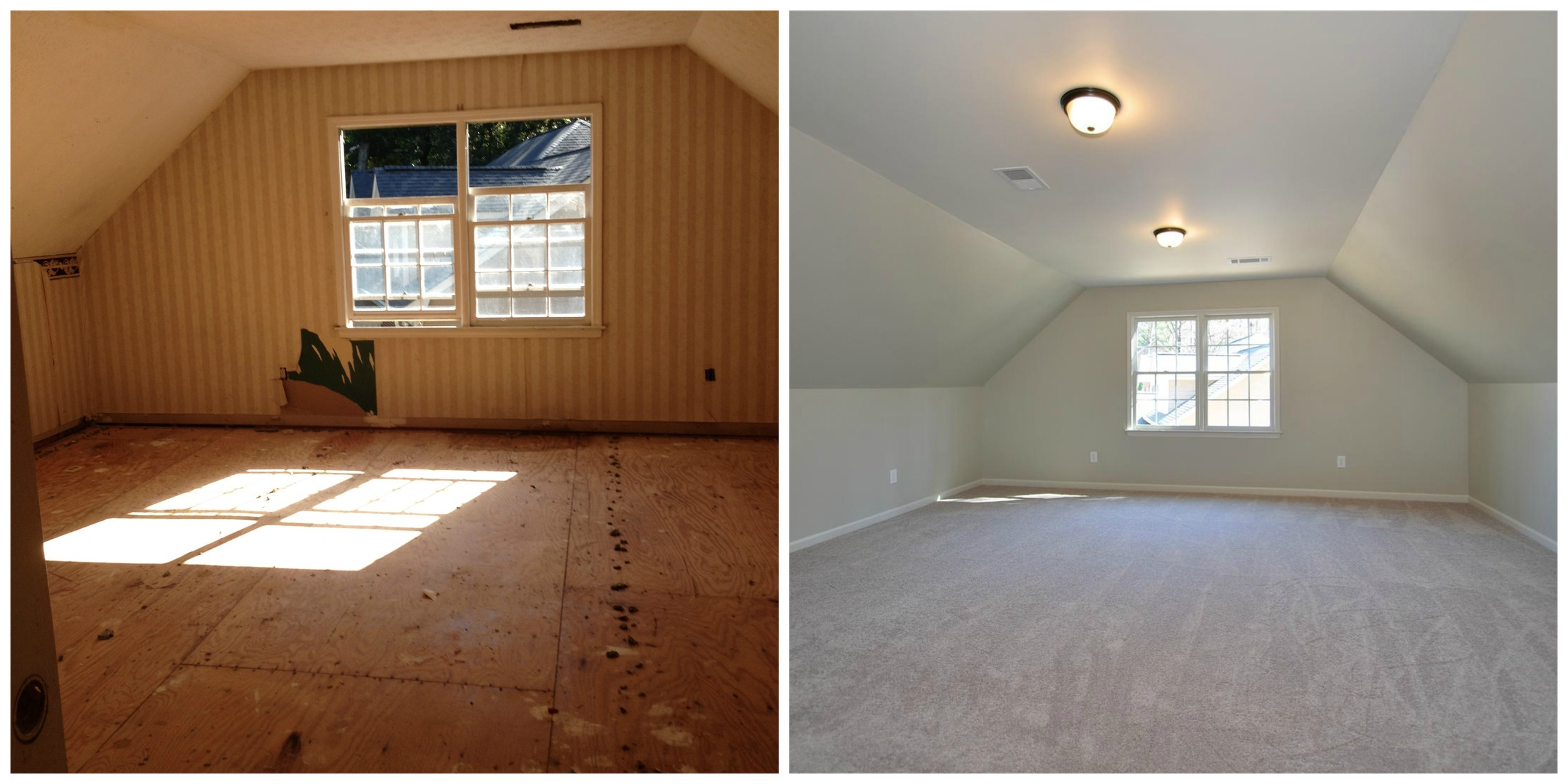 Bonus room before and after