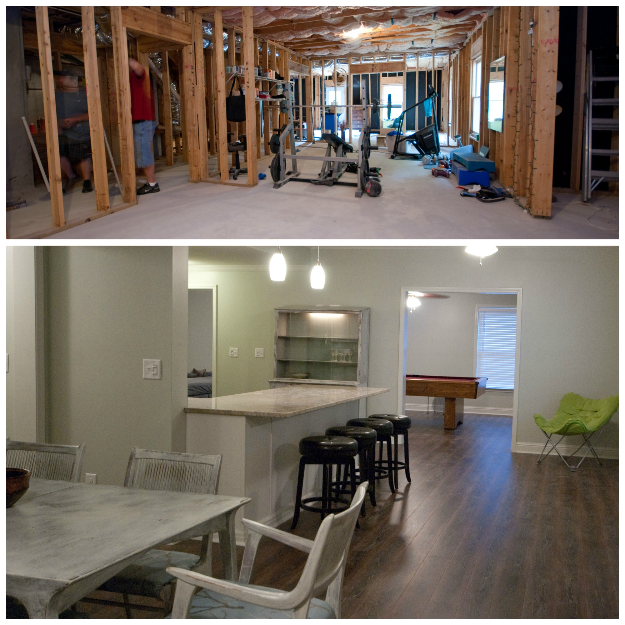 Basement renovation via Drum Home