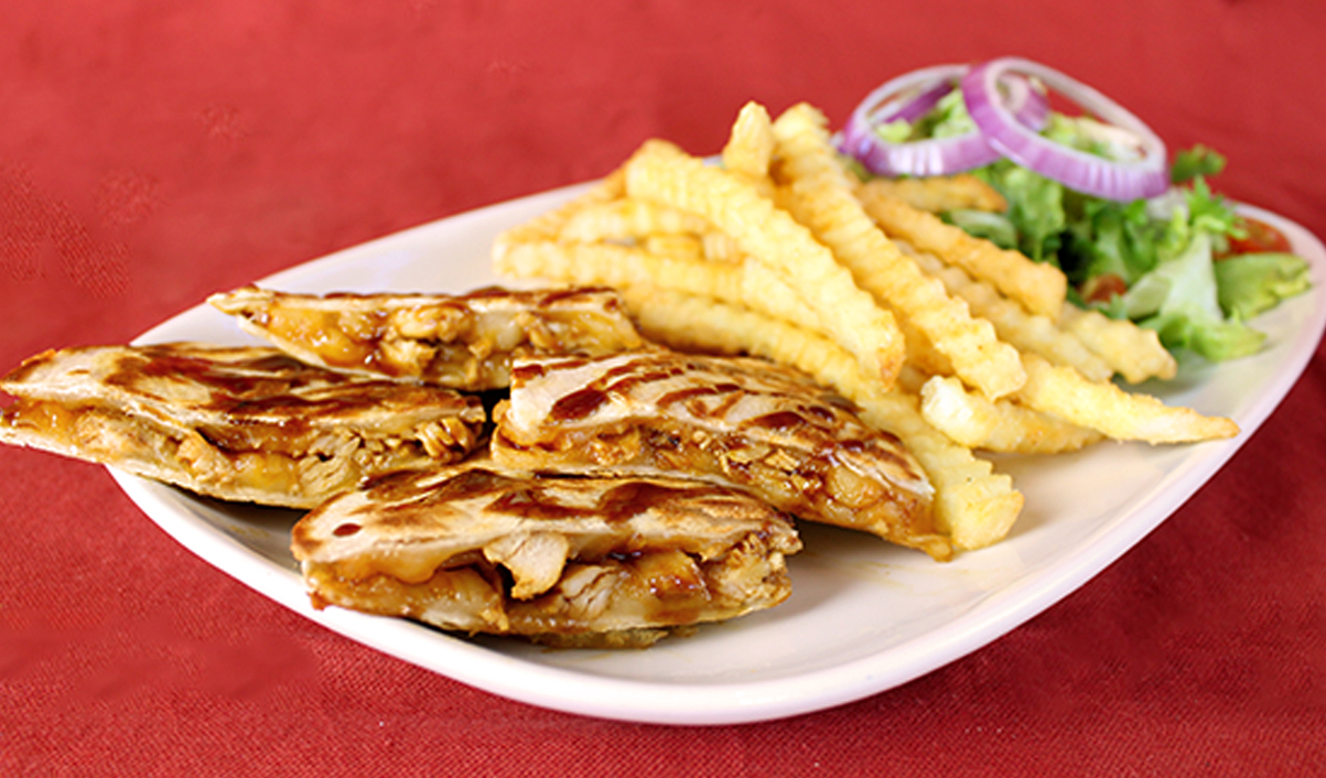 Carolina Honey BBQ Chicken Quesadilla