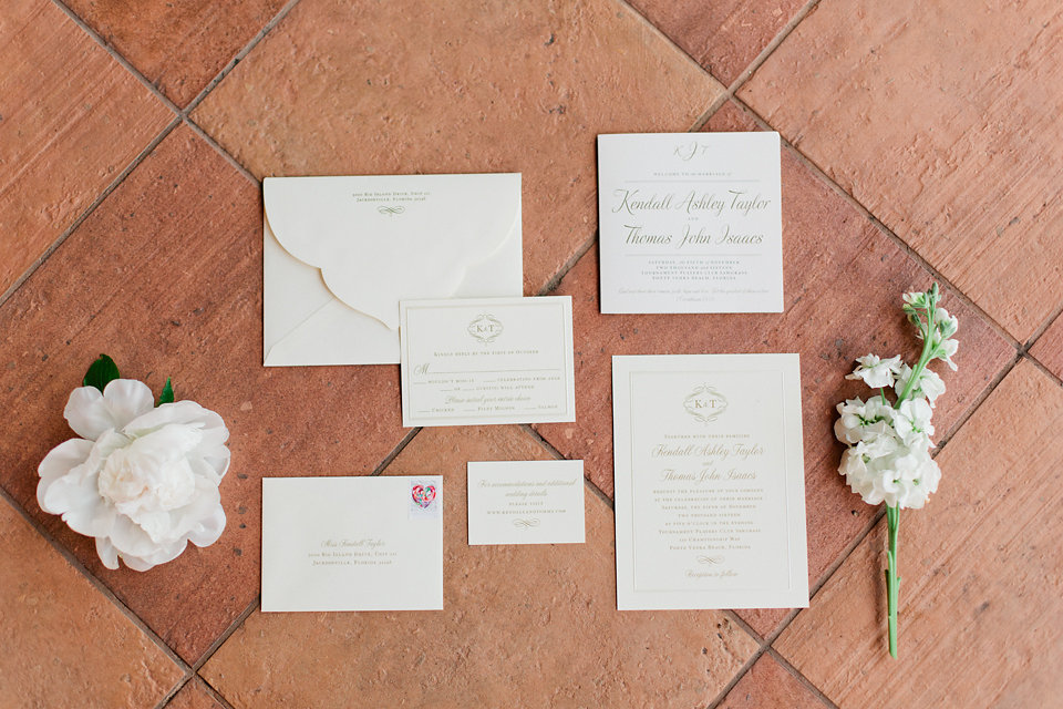 Classic & Clean Stationary Suite  Blush Wedding at TPC Sawgrass Wedding Ponte Vedra Beach  Jacksonville Wedding Planner Blue Ribbon Weddings  Jacksonville Wedding Photographer Debra Eby Photography  Wedding Ceremony & Reception at TPC Sawgrass Jacksonville