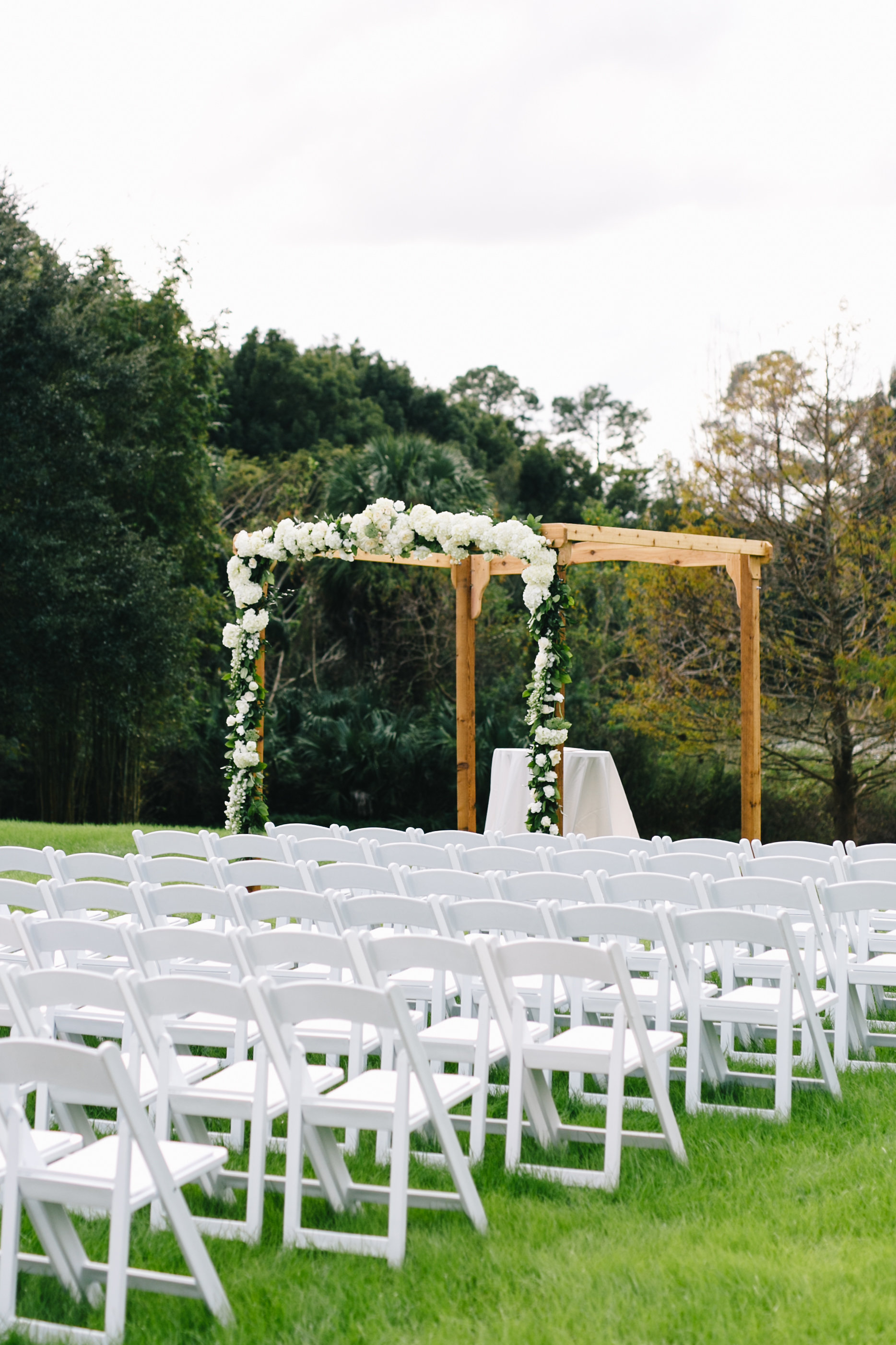 Ceremony floral huppah Lake Mary Wedding