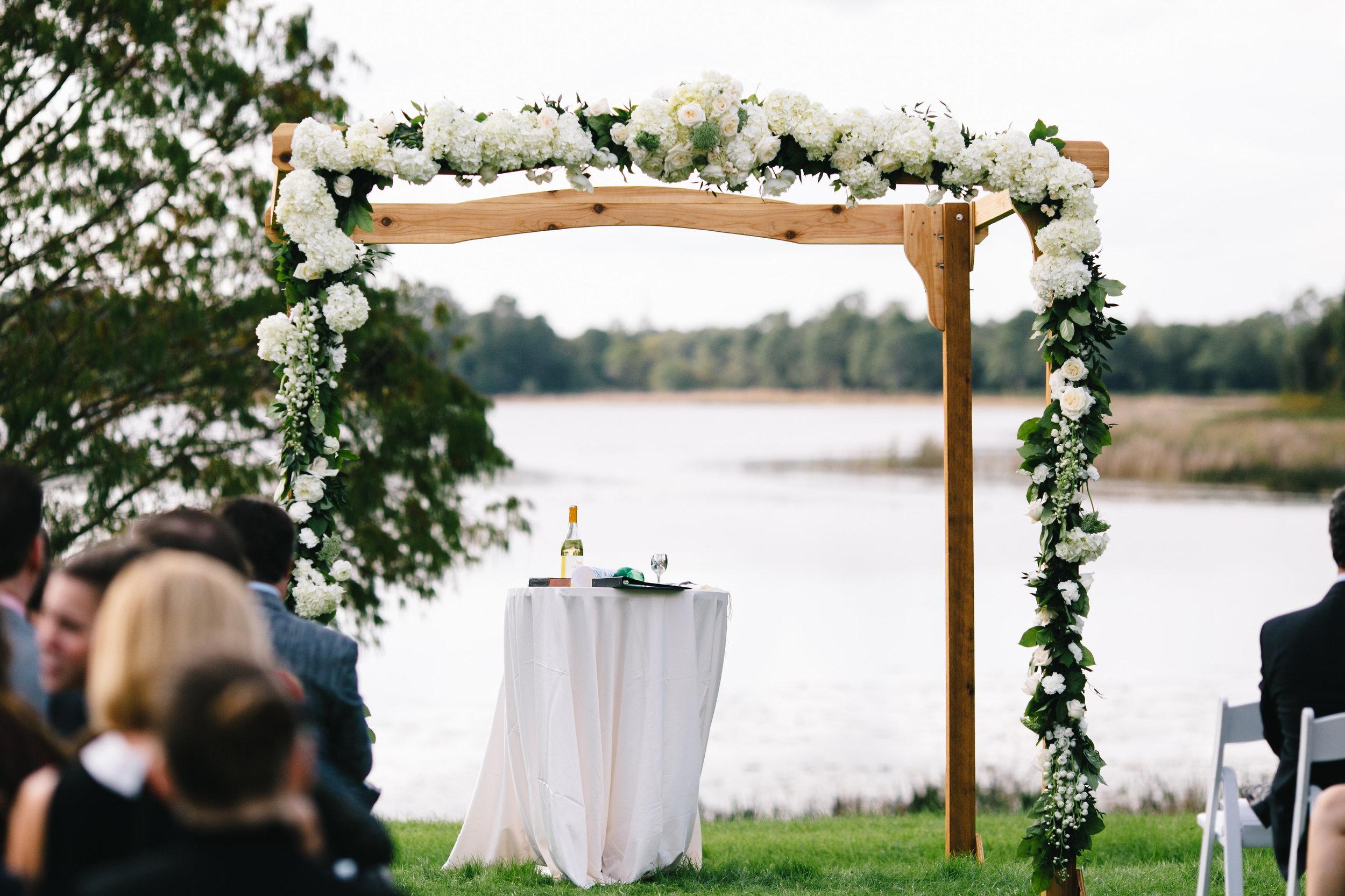 Hydrangea ceremony huppah