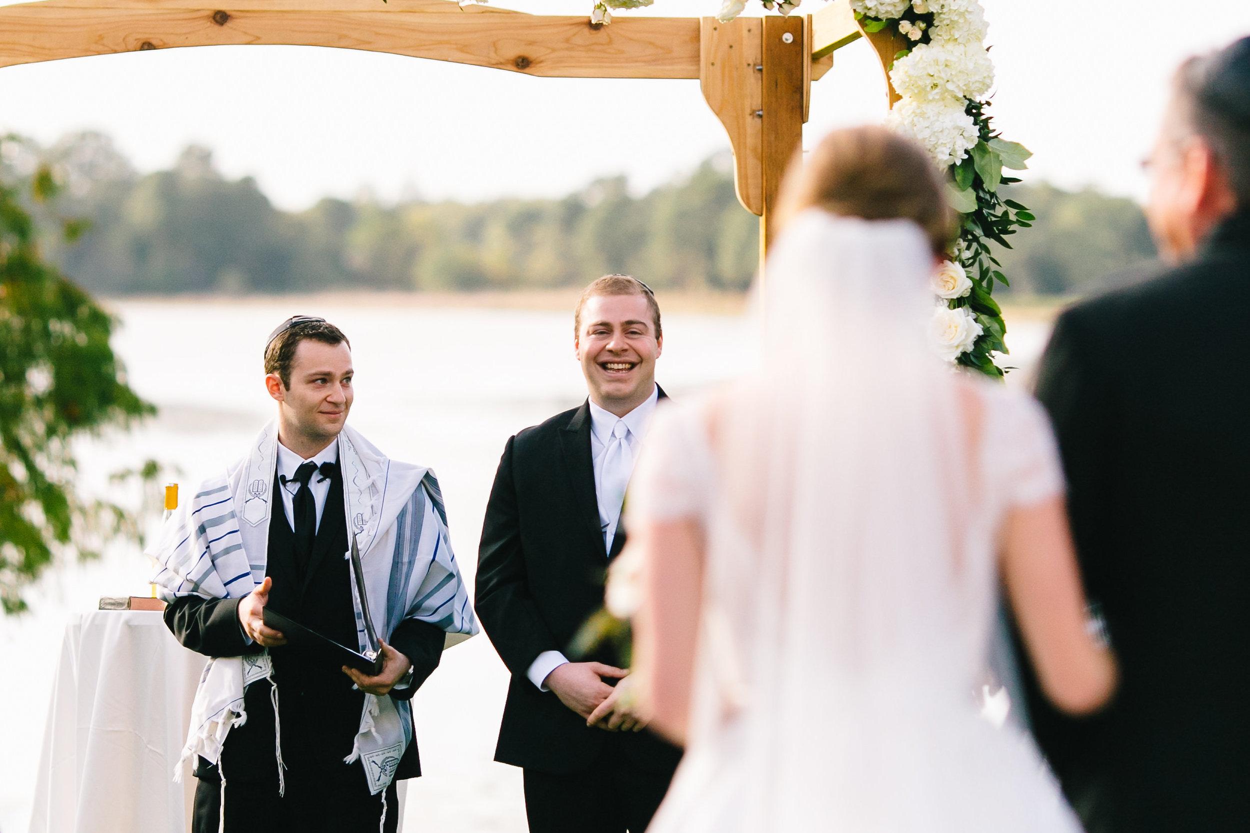 Lakeside wedding ceremony Lake Mary Event Center Wedding