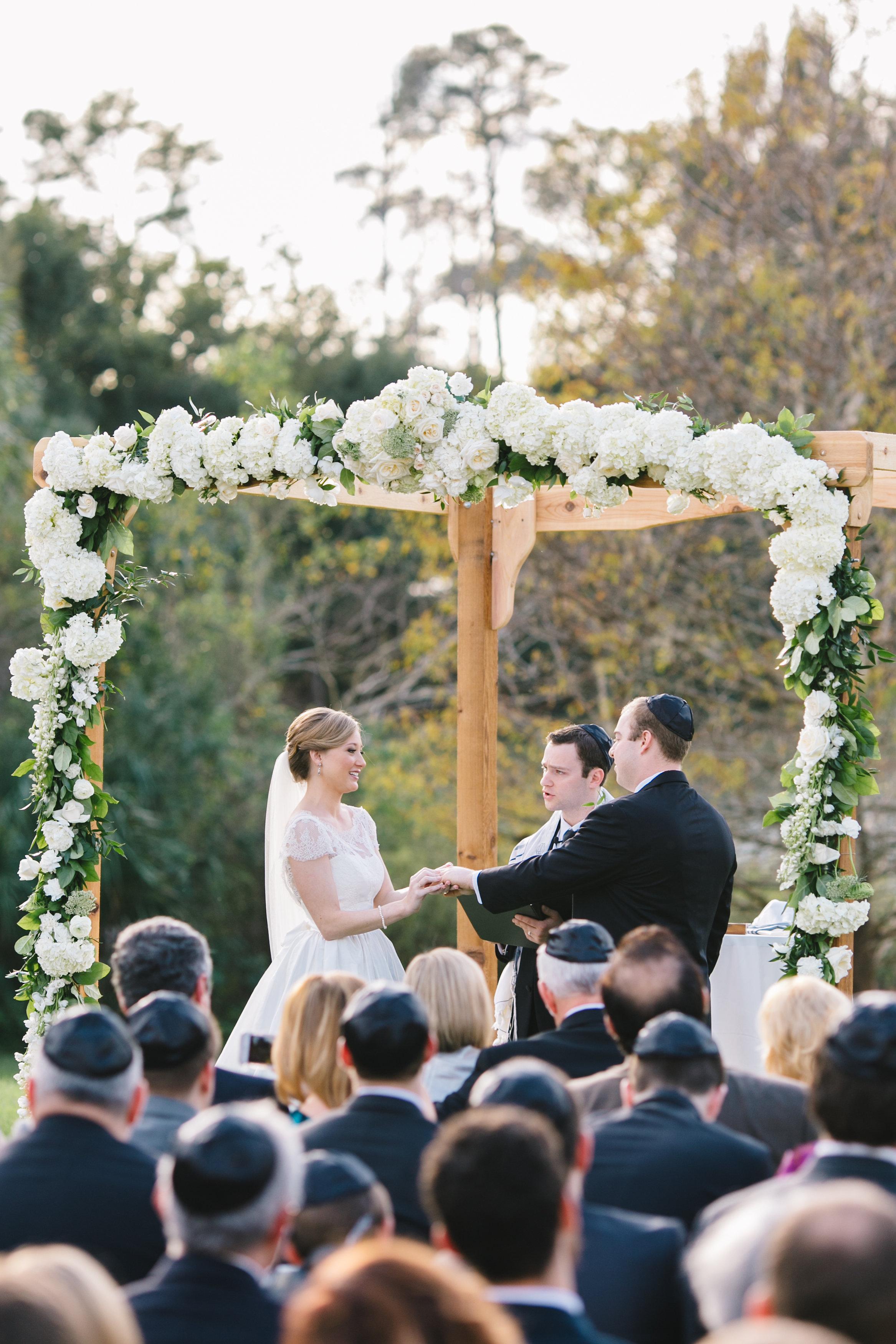 Traditional wedding ceremony huppah