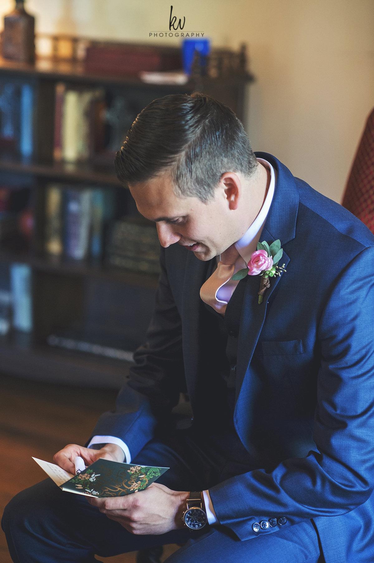 A love letter from his bride, Casa Feliz Wedding