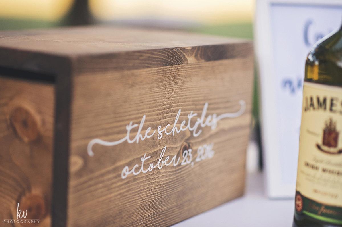 Custom card box, wedding details