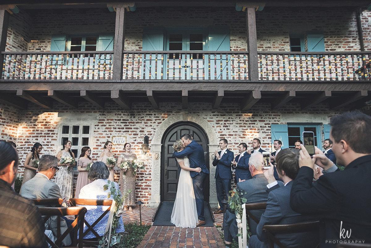 You may kiss your bride, Casa Feliz wedding