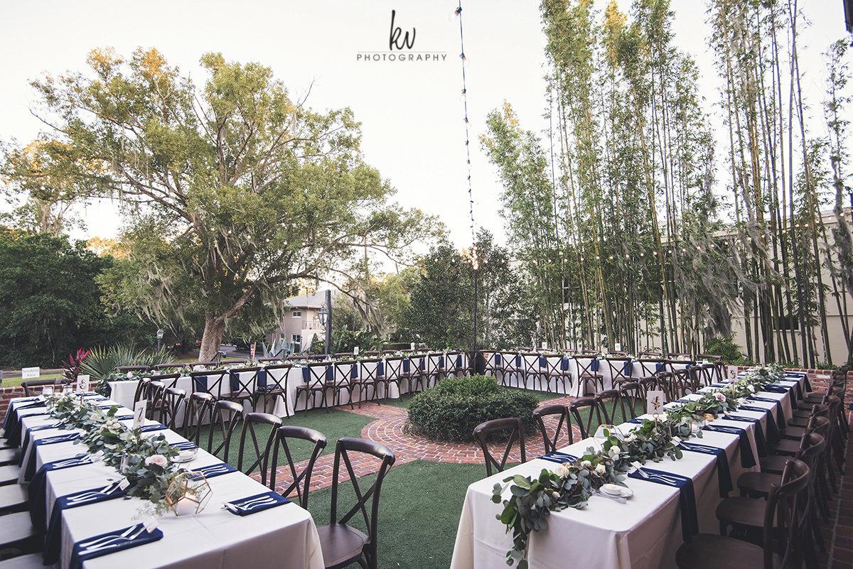 Banquet table layouts for Casa Feliz Wedding Reception