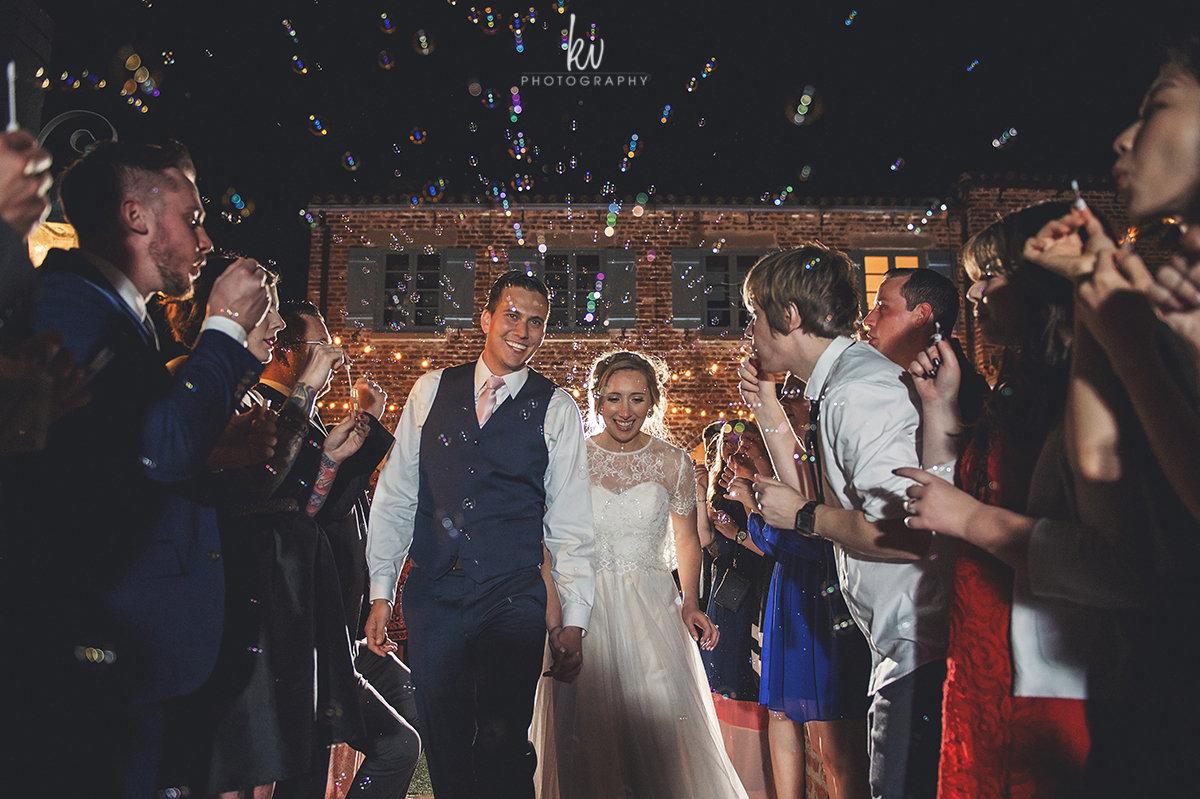 Grand exit at Casa Feliz Wedding