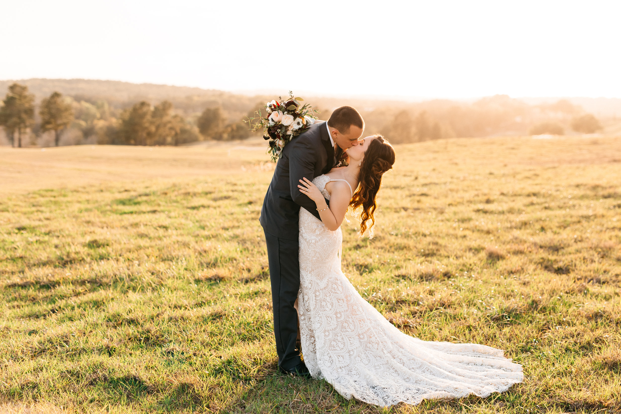 Sammy and Andrew on the rolling hills, Montverde Weddings
