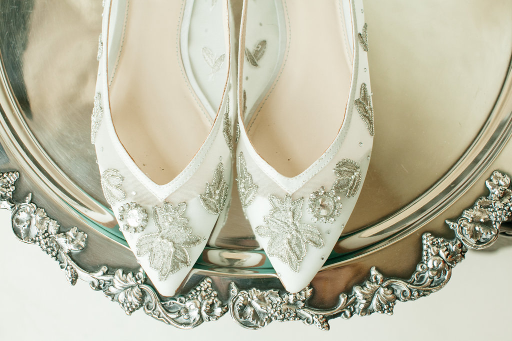 Lovely flats by Betsy Johnson, Wedding shoes