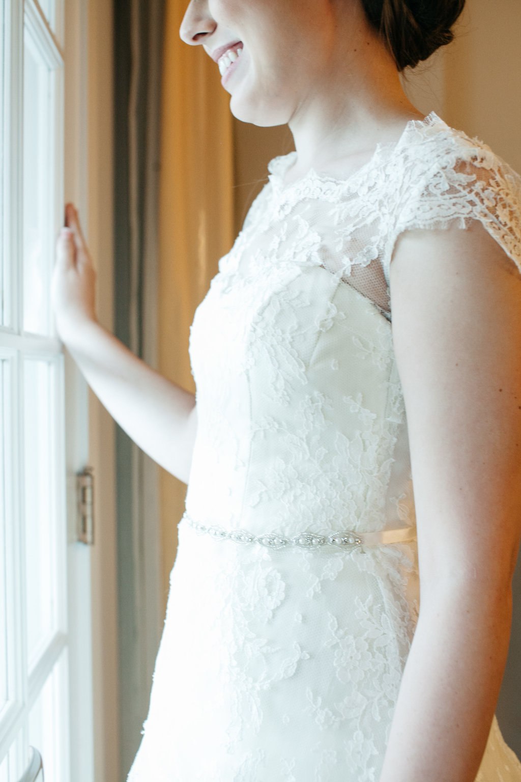 Lace Wedding gown, St. Luke's Methodist Ceremony