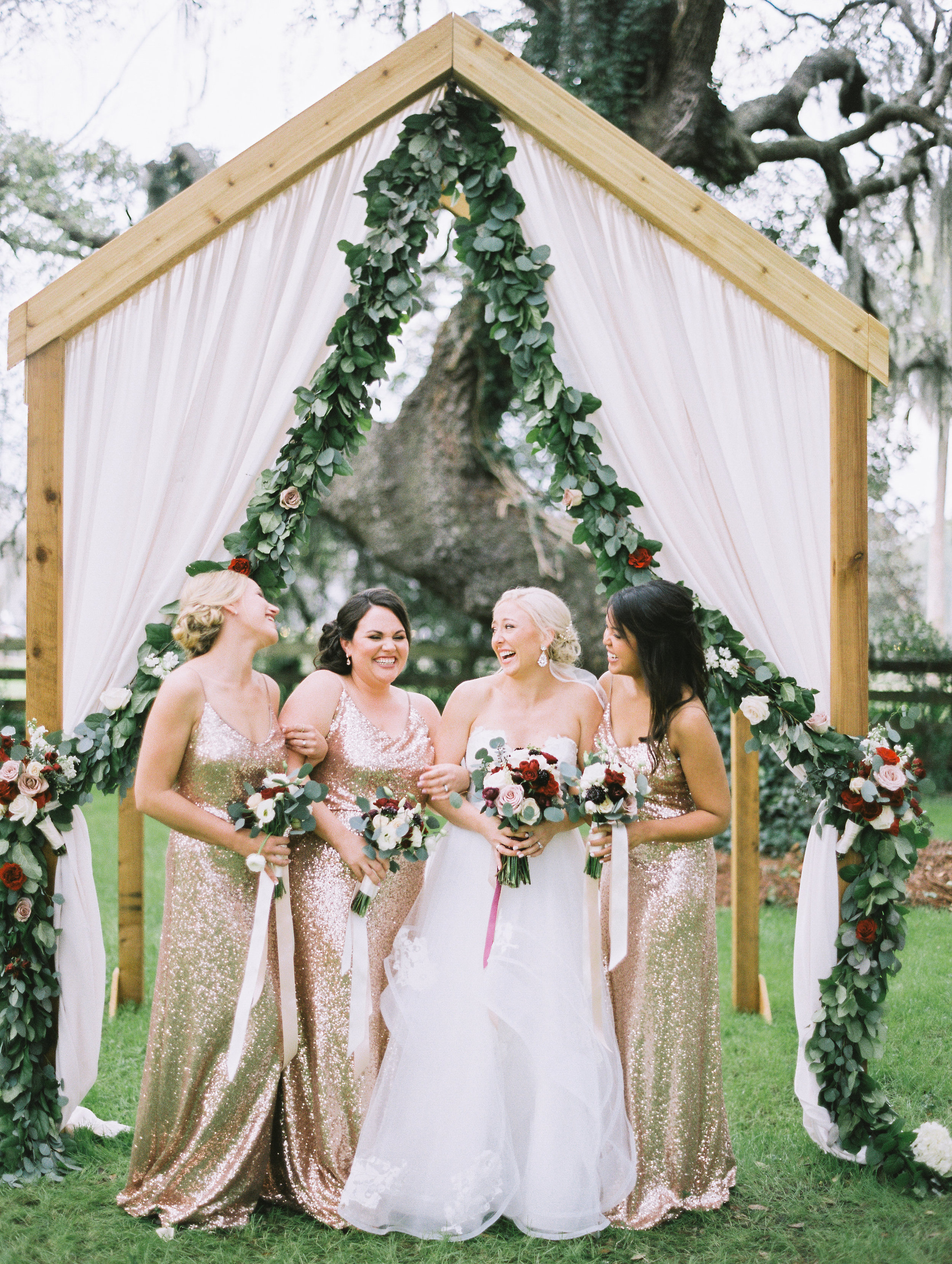 Cassie and her bridesmaids