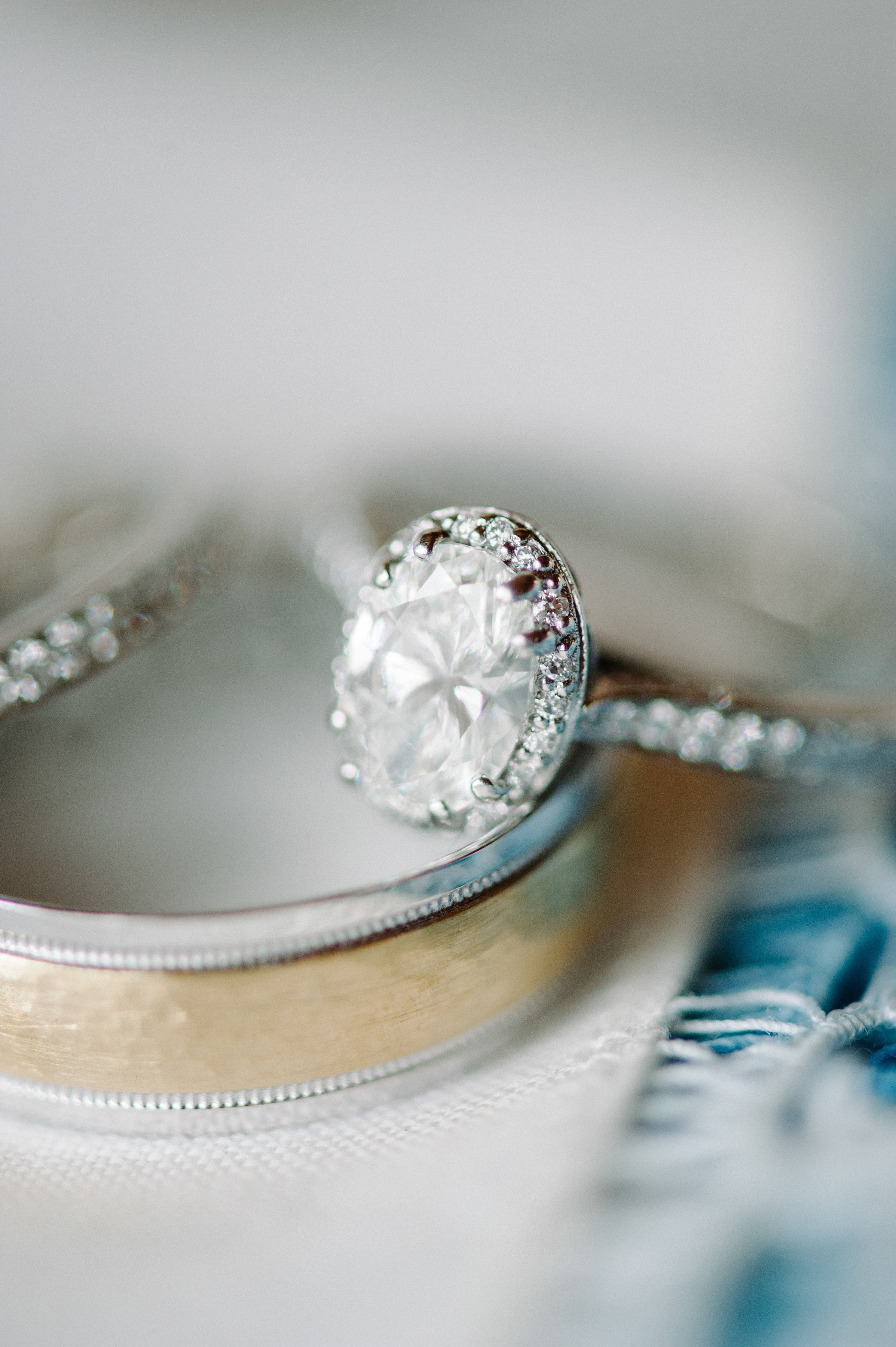 Diamond engagement ring with wedding bands from Beards Jewellers