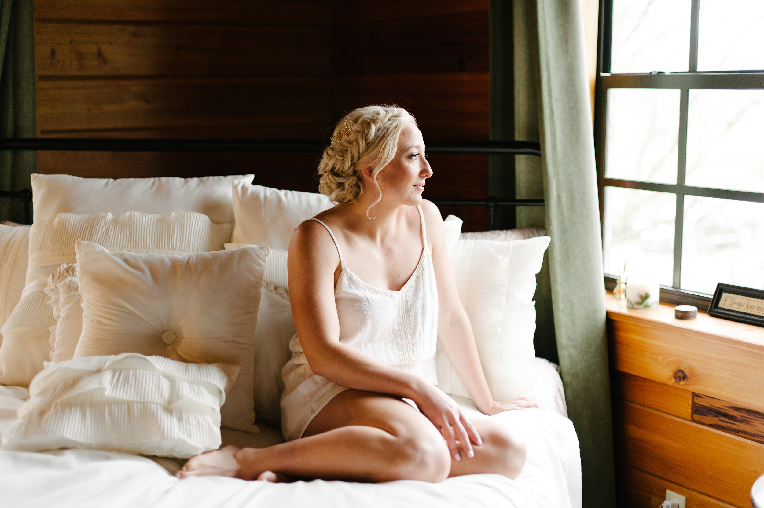 All the natural light at Isola Farms Bridal Suite