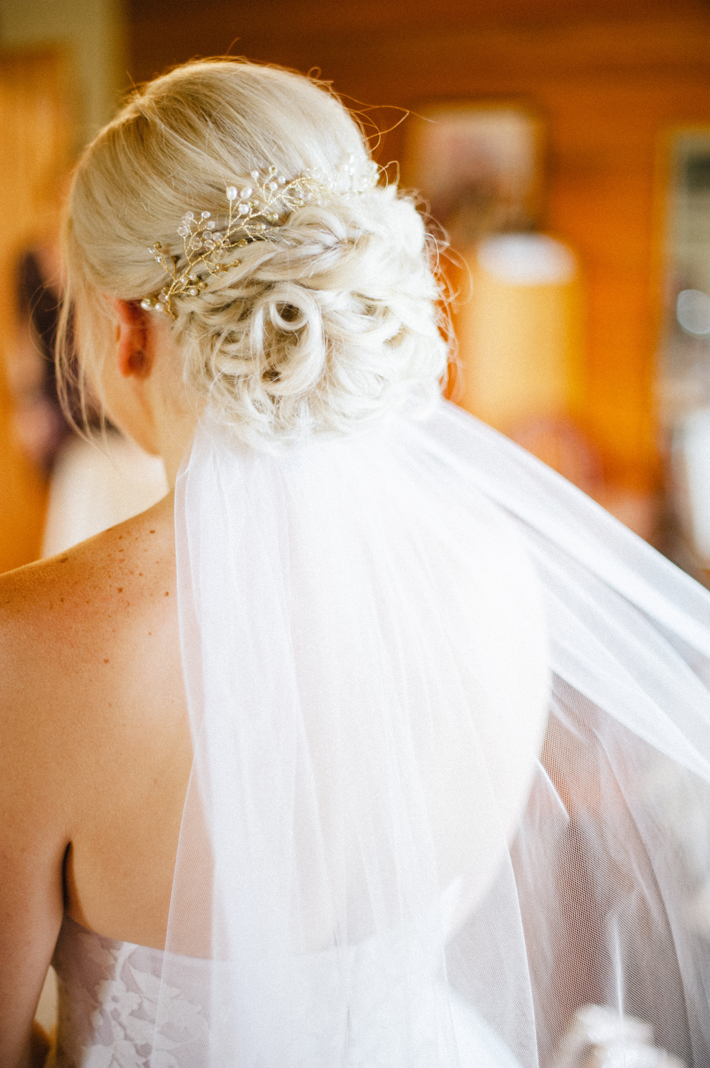 Wedding hairstyle up-do by Lauren Howard