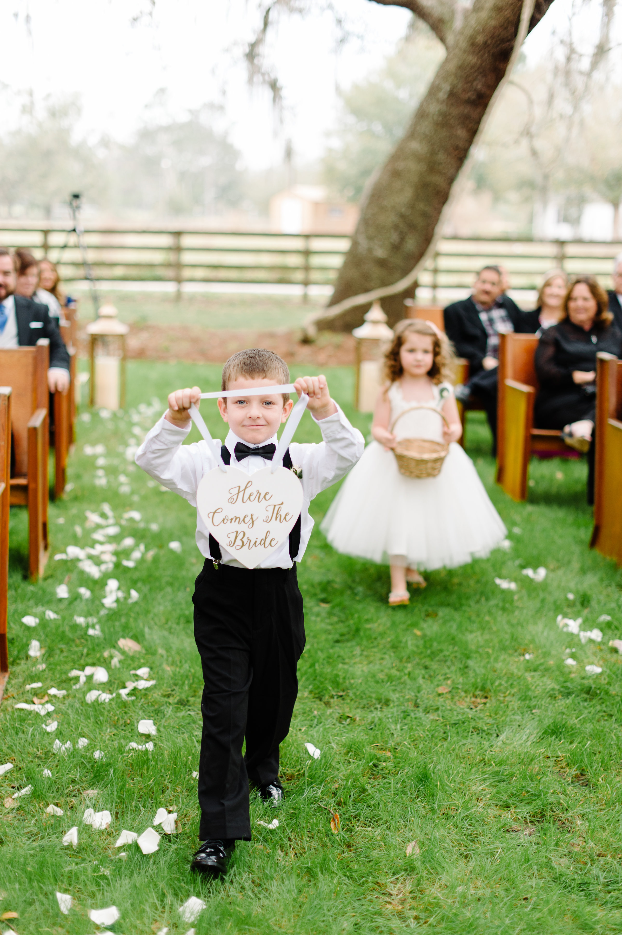 Here comes the bride - Ring bearer sign
