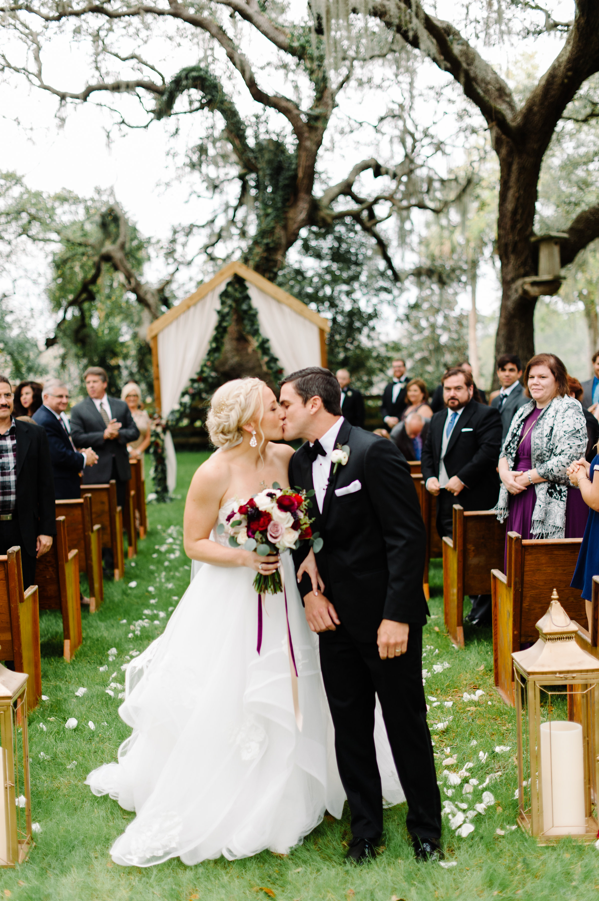 First of many wedding day kisses