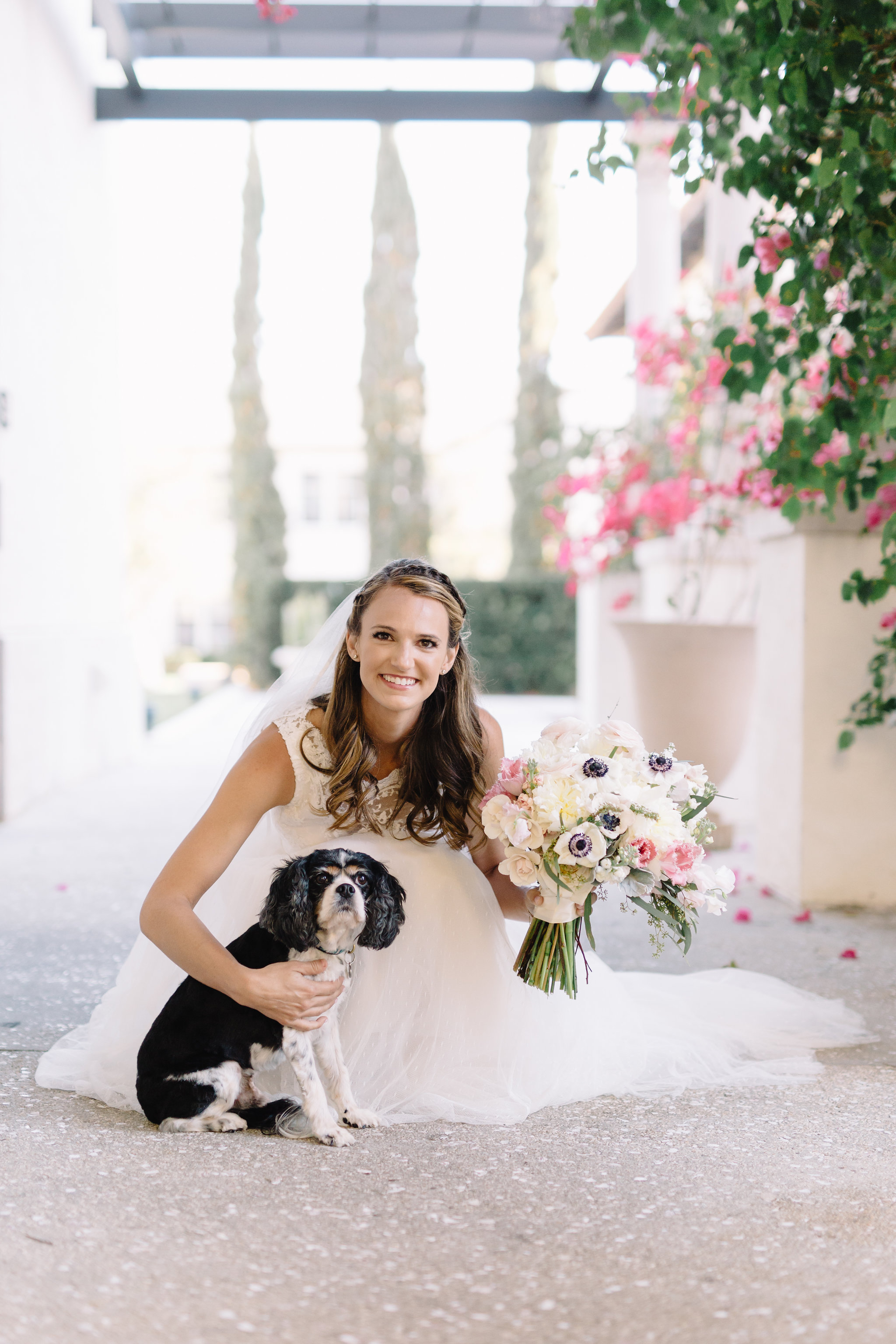 Carson and her sweet puppy, Winter Park Weddings