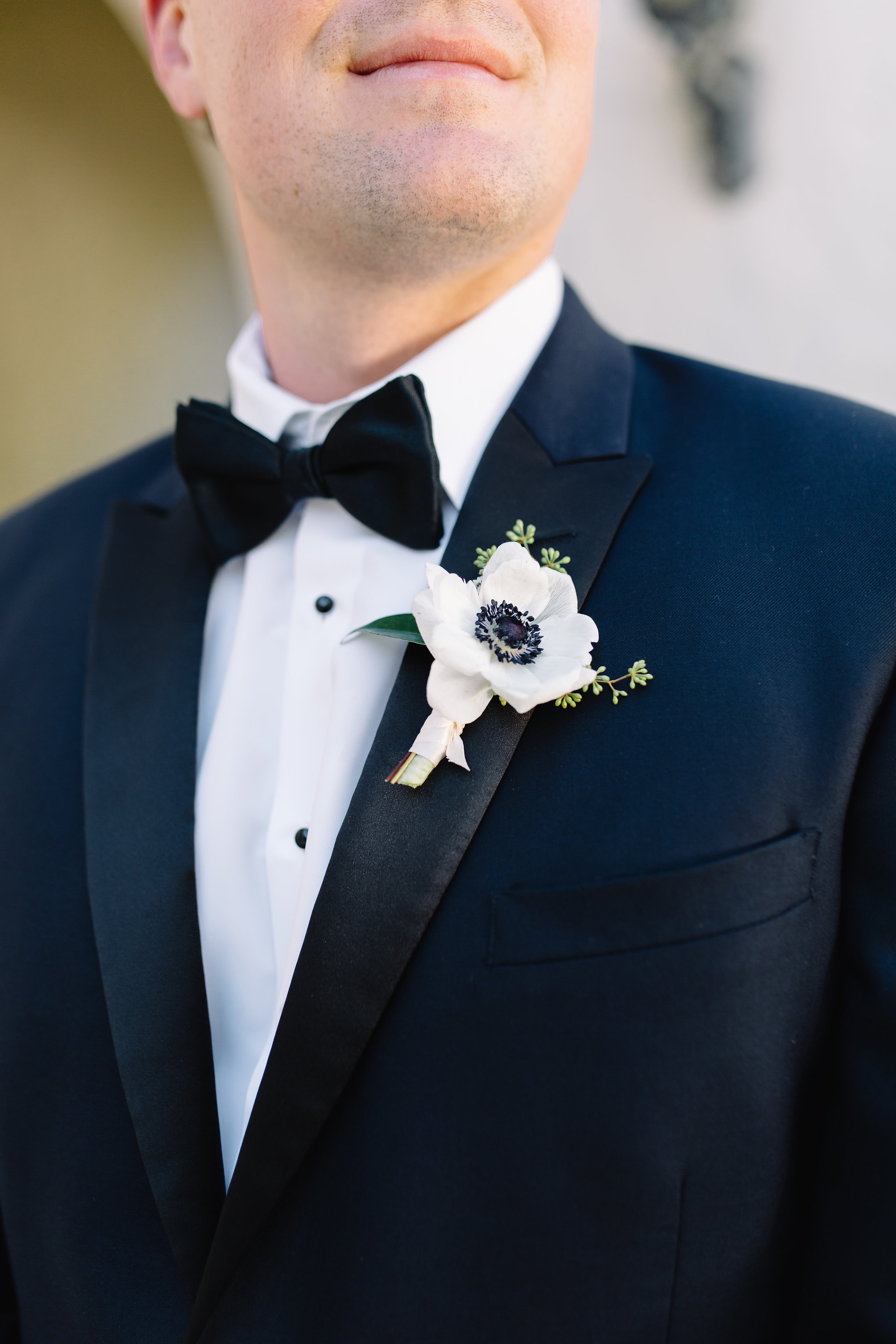 Anoime boutonniere for the groom