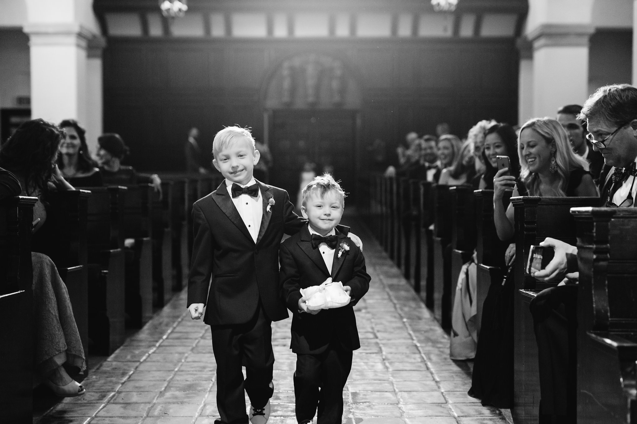 Darling ring bearers Knowles Memorial Chapel Rollins College