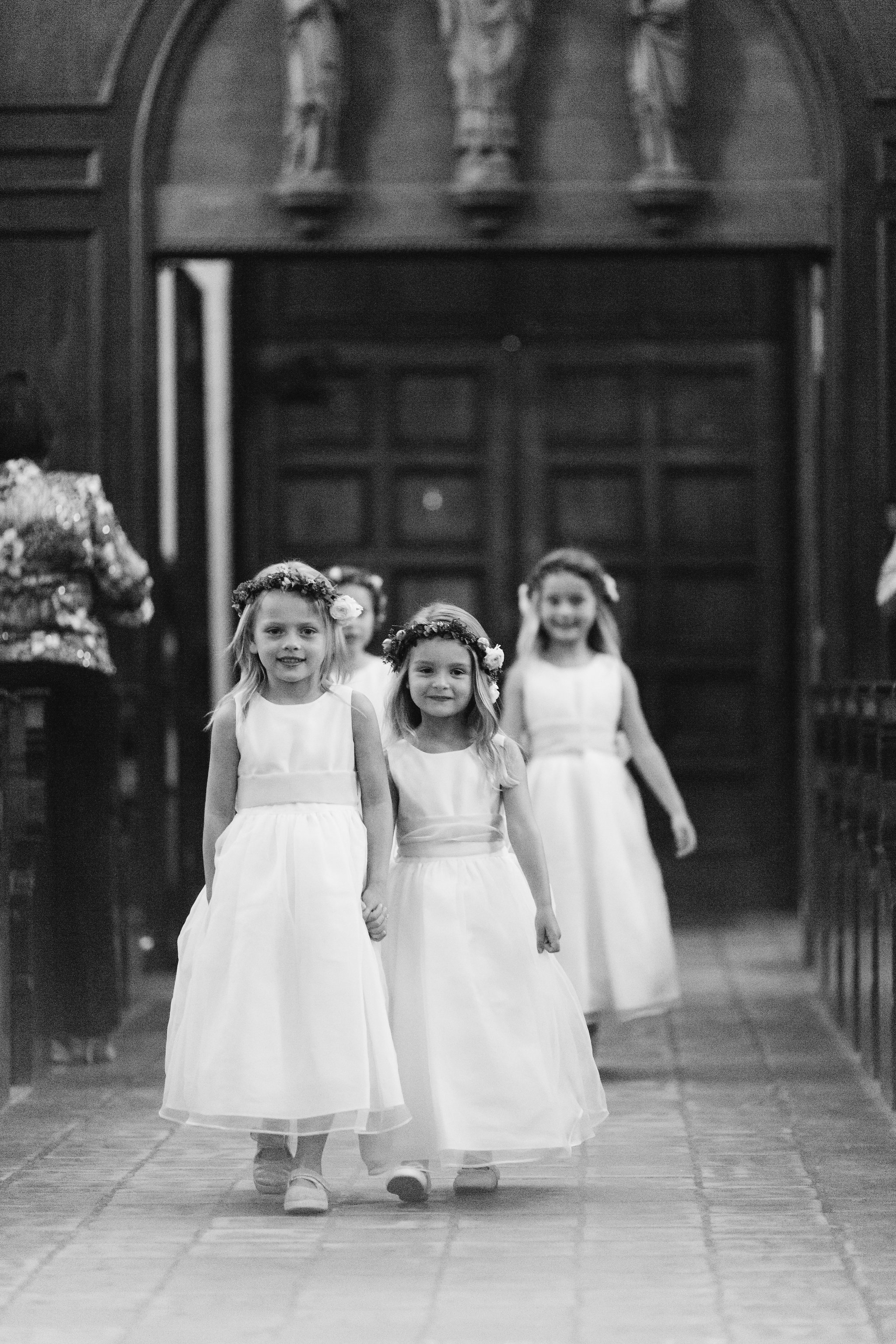 The cutest bunch of flower girls you ever did see