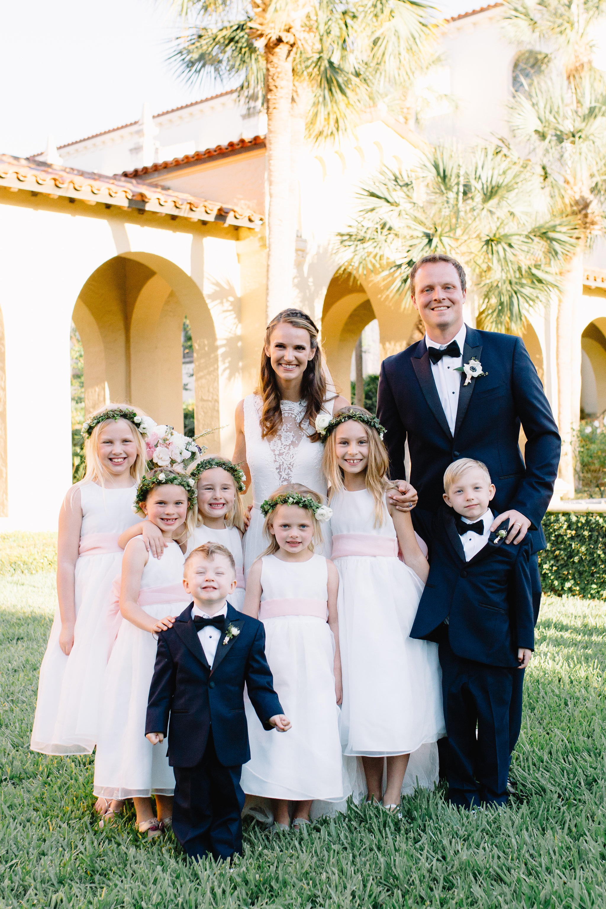 Ring bearers and flower girls complete the wedding party
