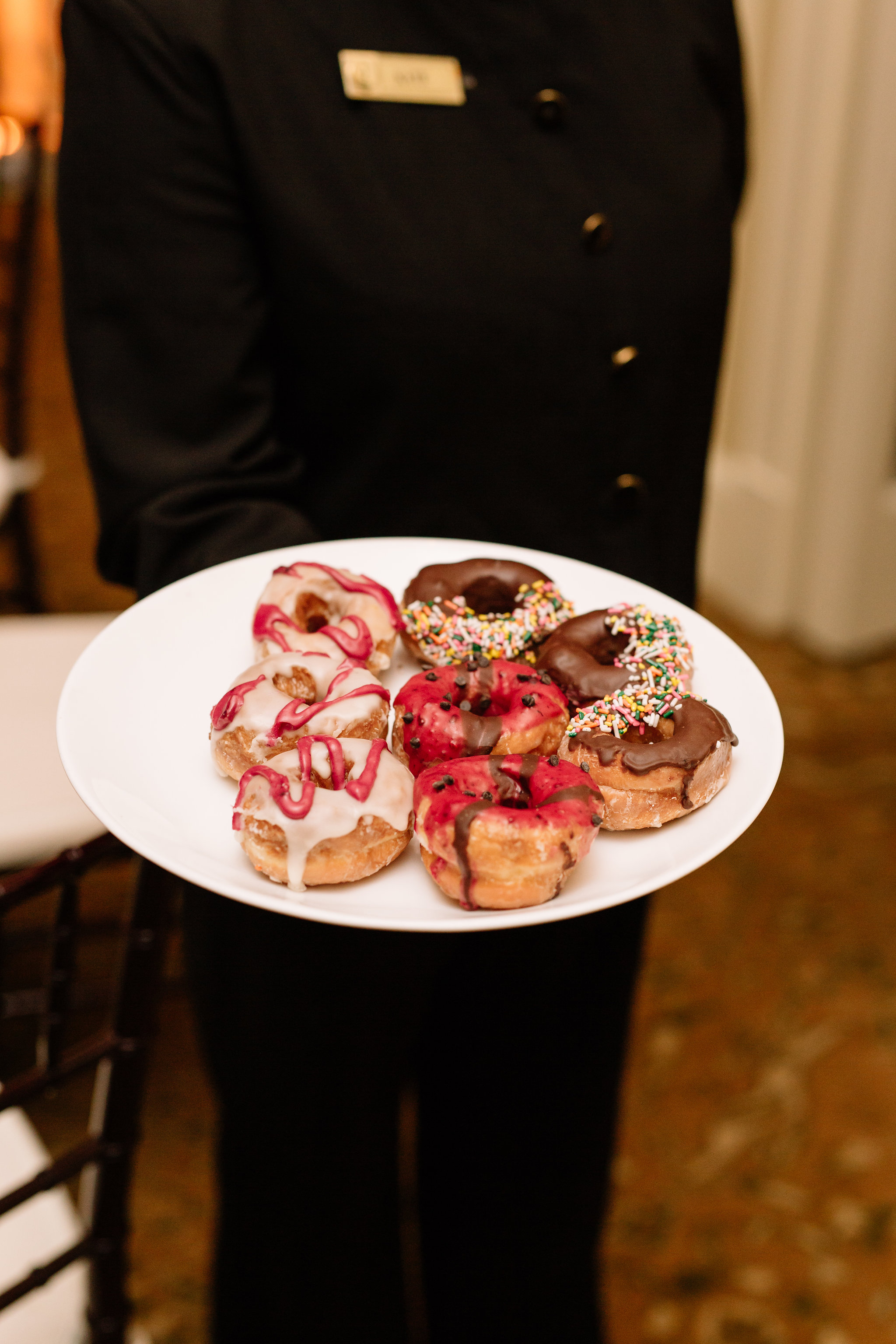Special doughnut dessert, Winter Park Weddings