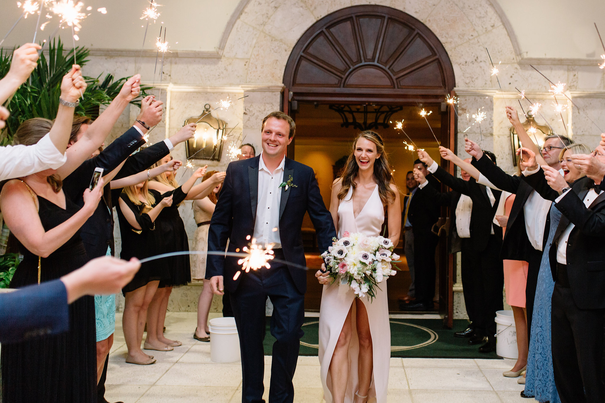 Sparkler Grand Exit, Interlachen Country Club Wedding Reception