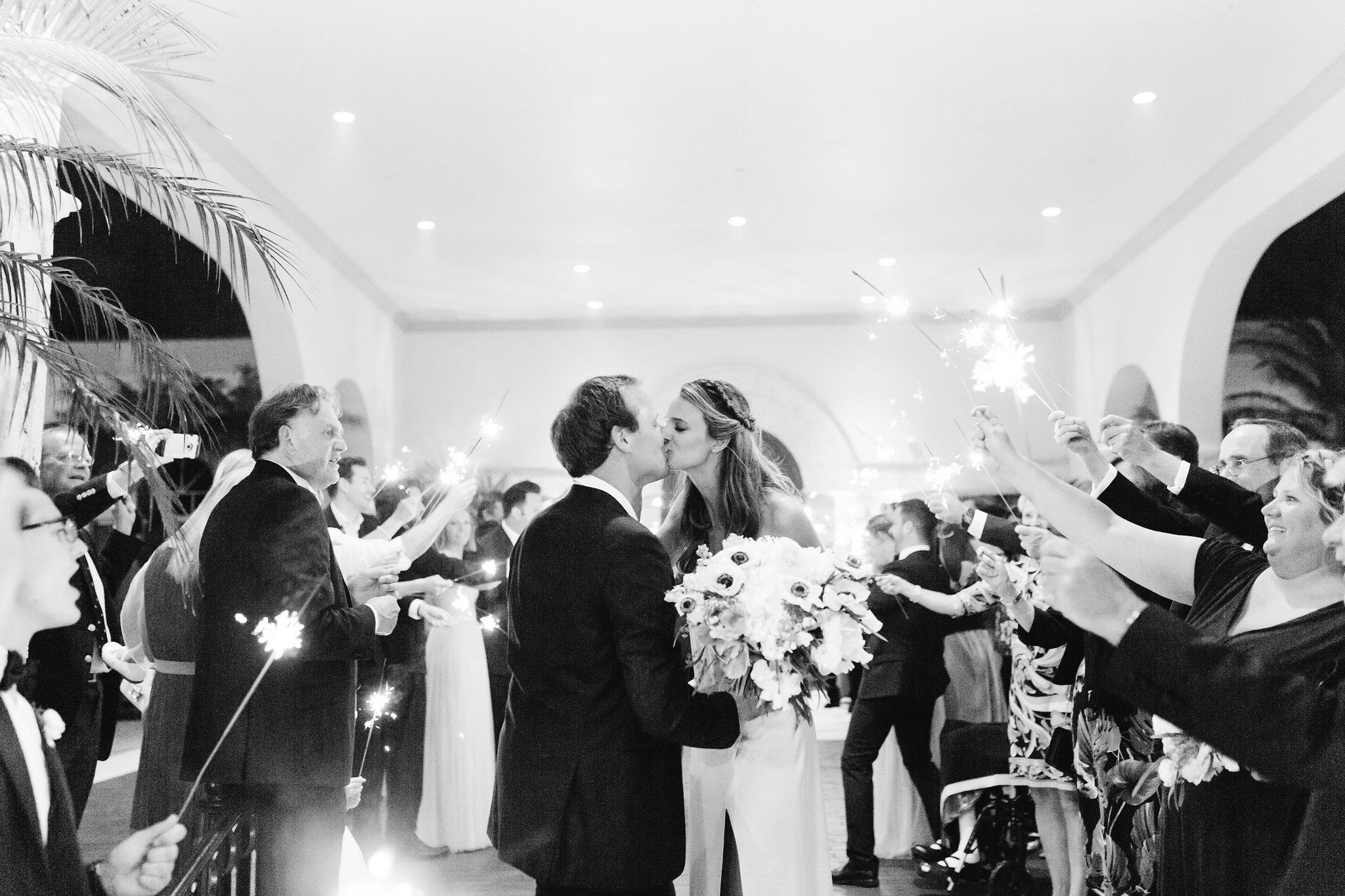 Sparkler exit, Winter Park Weddings