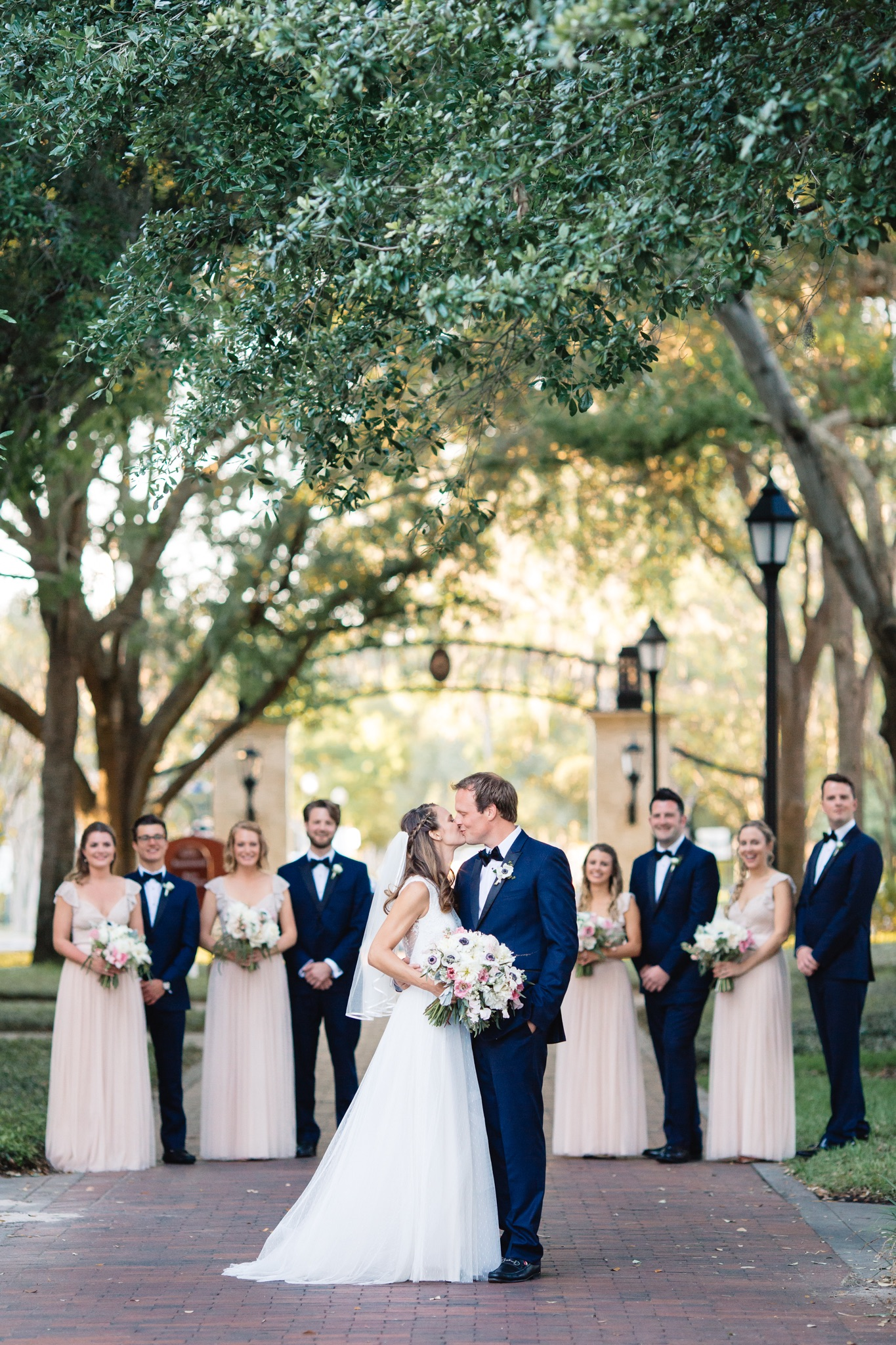 Wedding Party at the Rollins College Campus