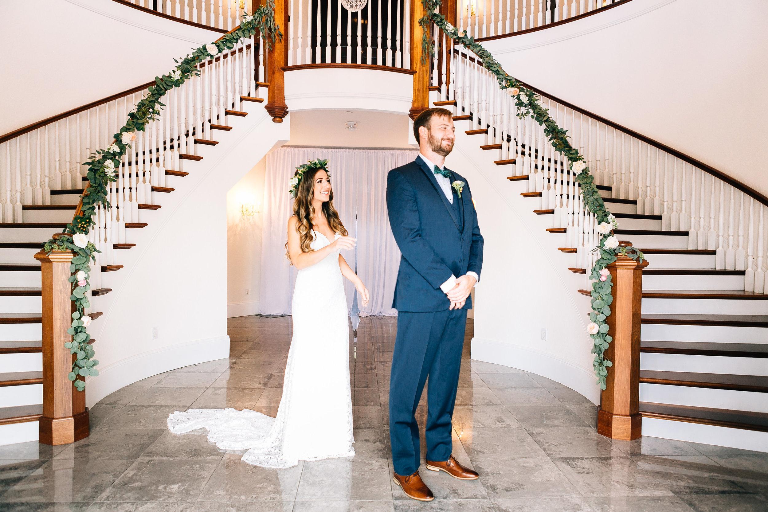 Luxmore Grande Estate first look photos Orlando Wedding Planner