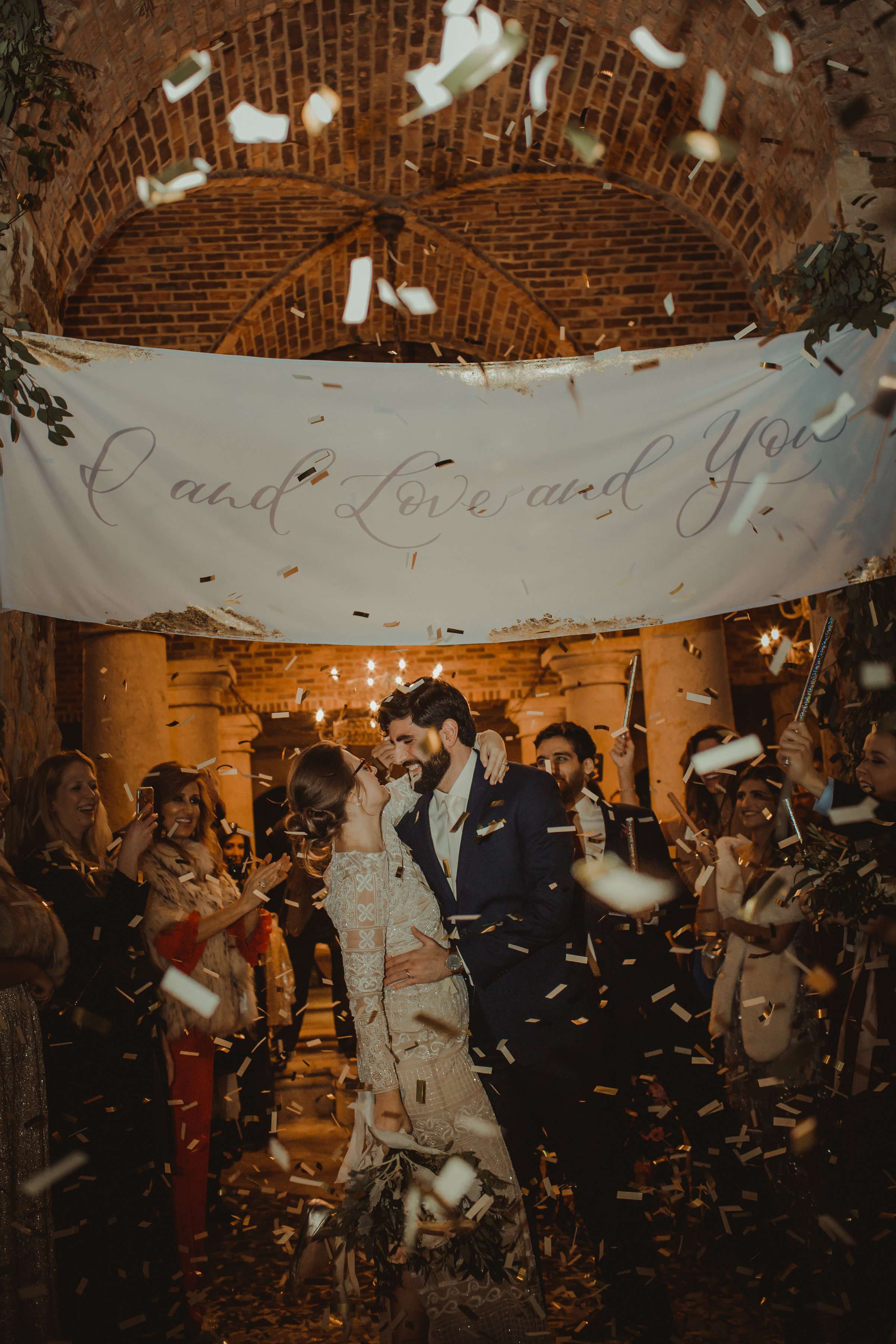Blissful and In love, perfect ending to the perfect wedding