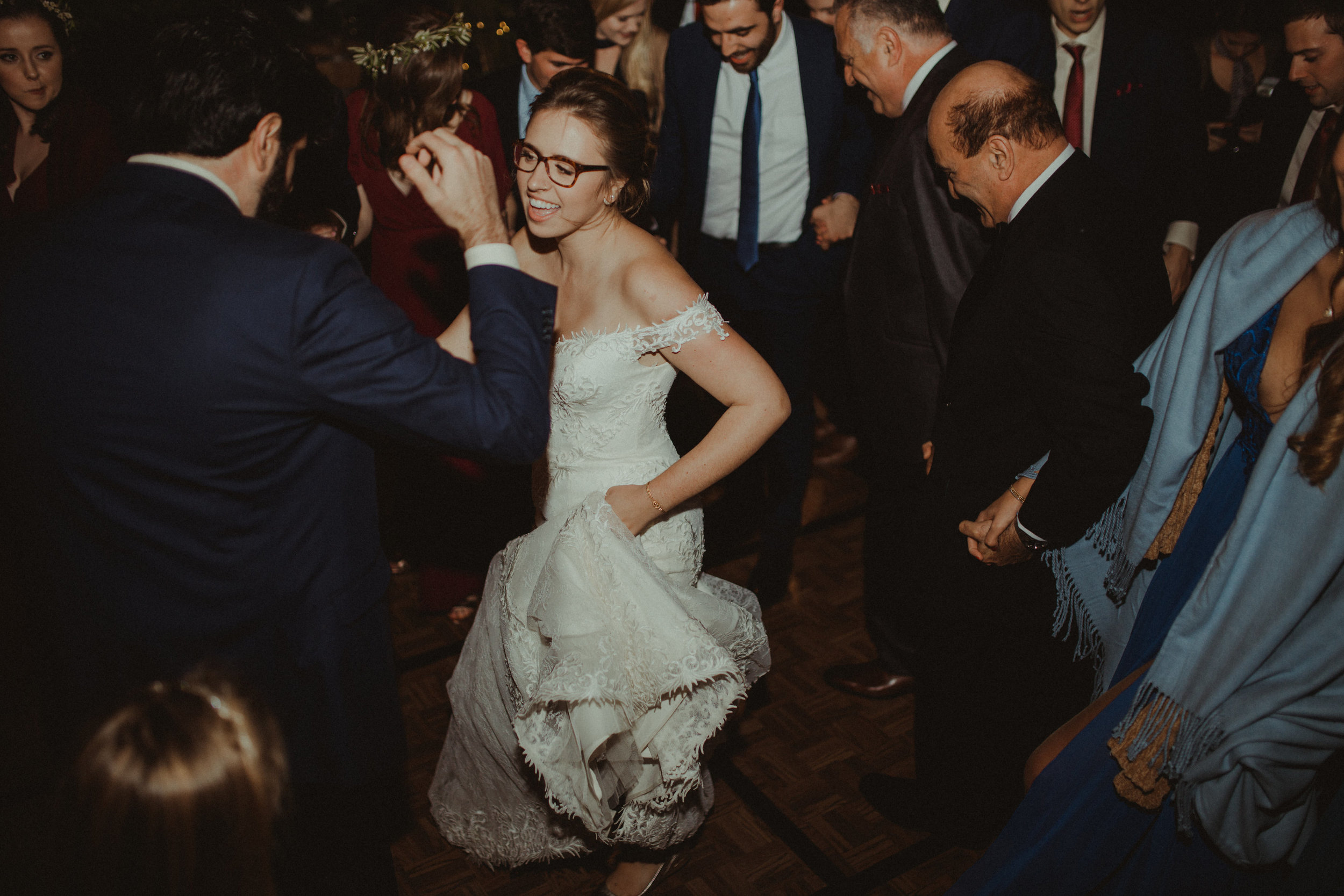 Dancing the night away at their Wedding Reception