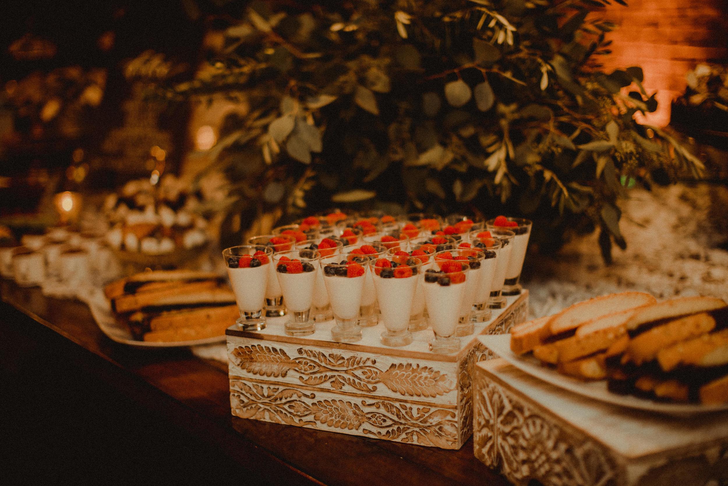Dessert table in Bella Collina Wine Cellar