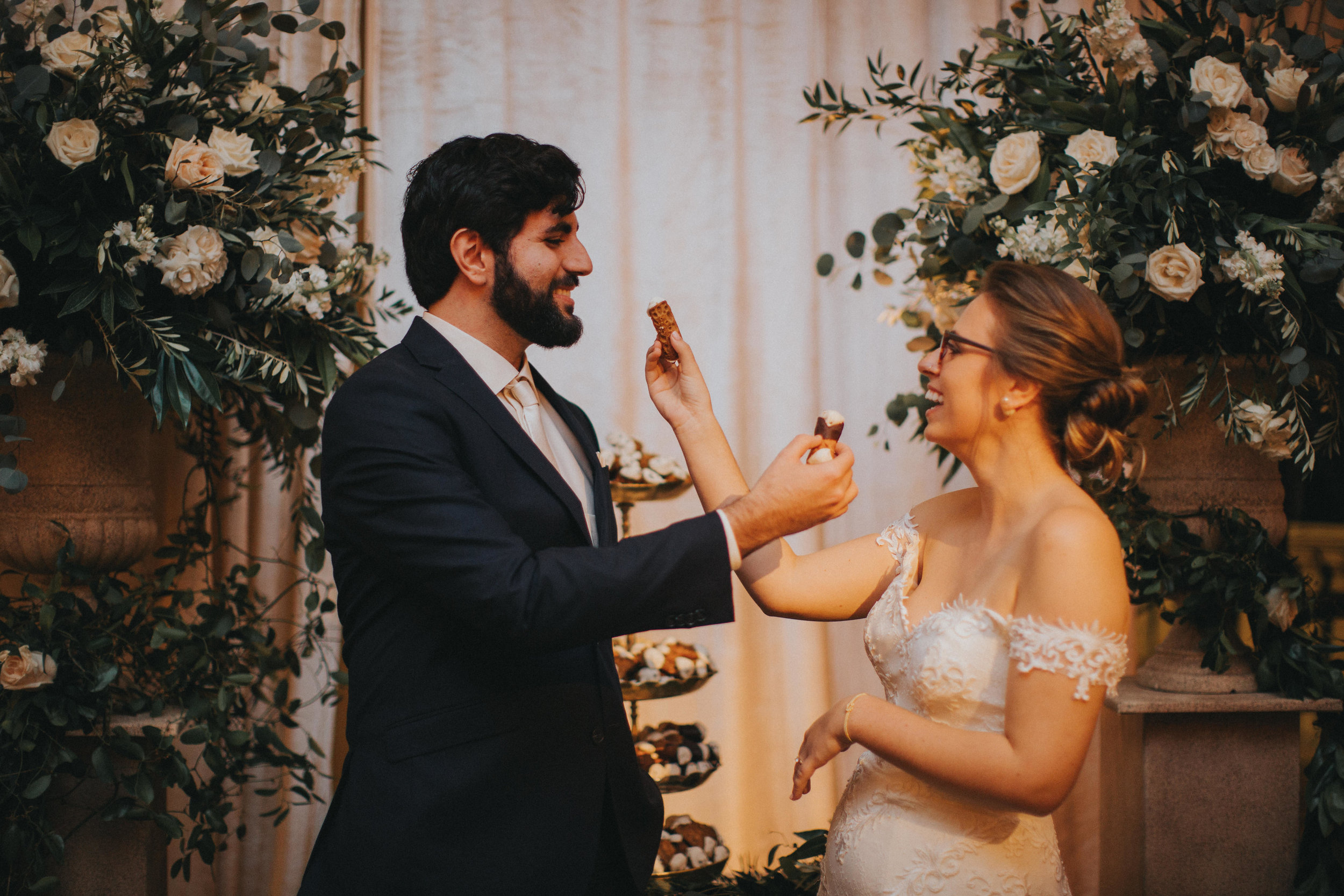 Wedding Cannoli Cutting