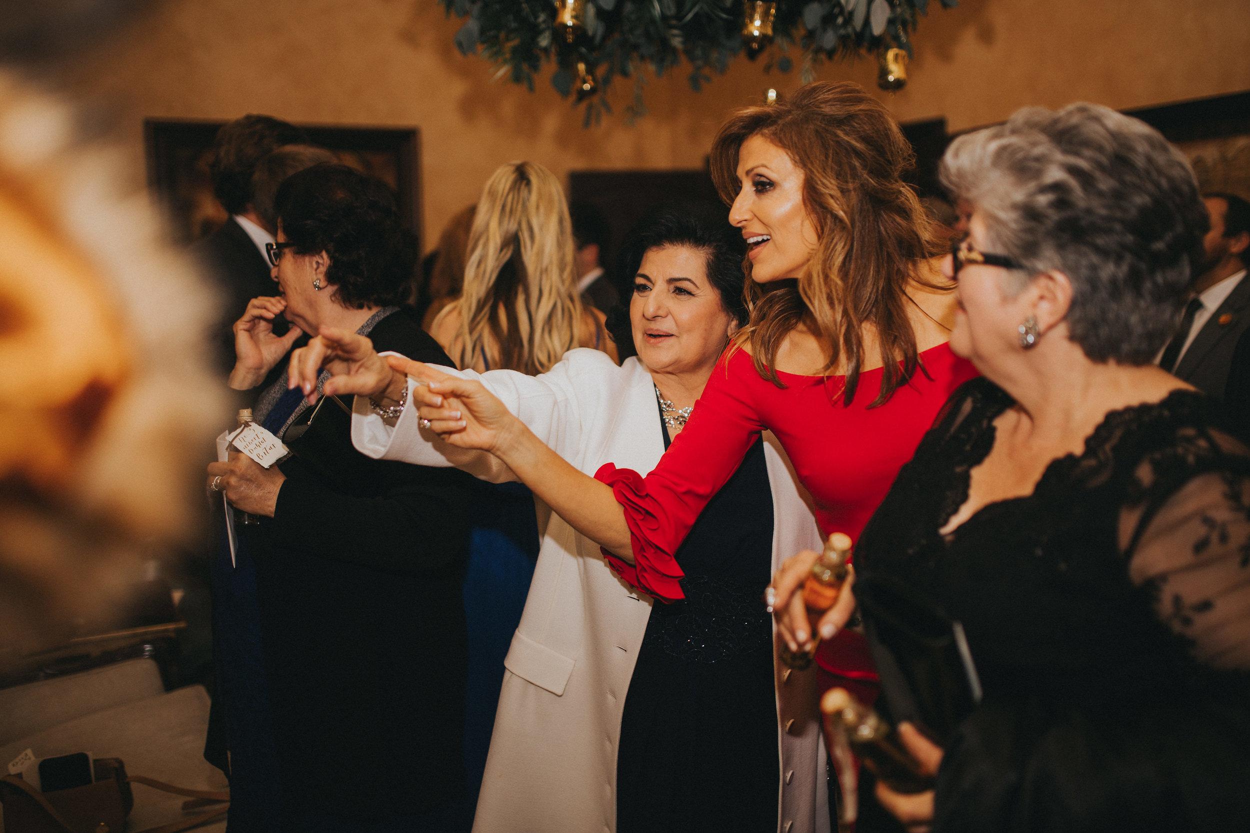 Wedding reception guests at Bella Collina Ballroom