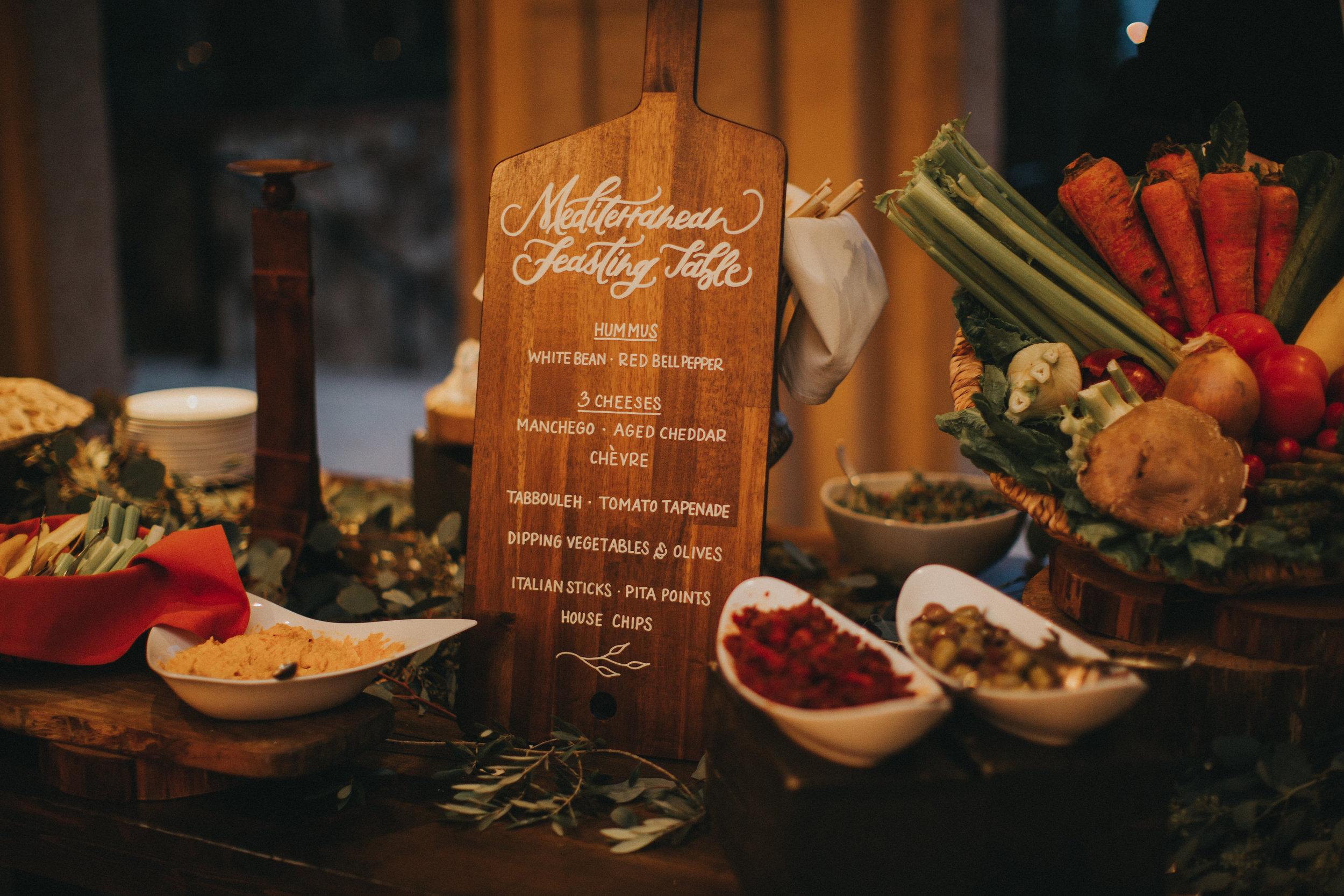Cocktail Hour Menu: Mediterranean Feasting Table