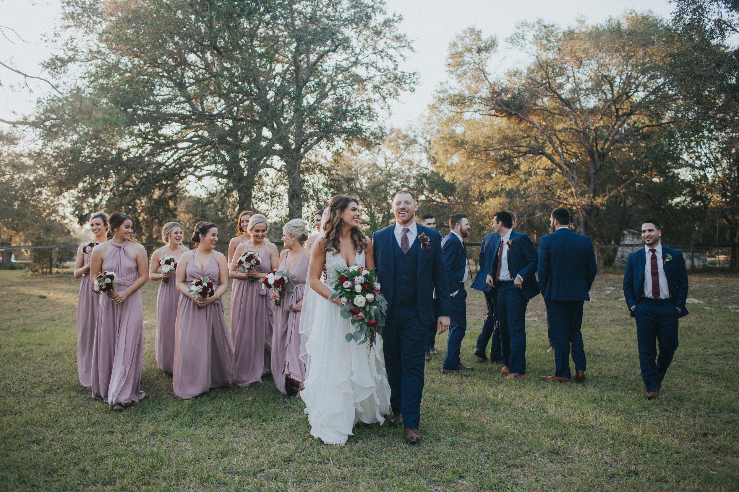 Wedding party at Arundel Estate