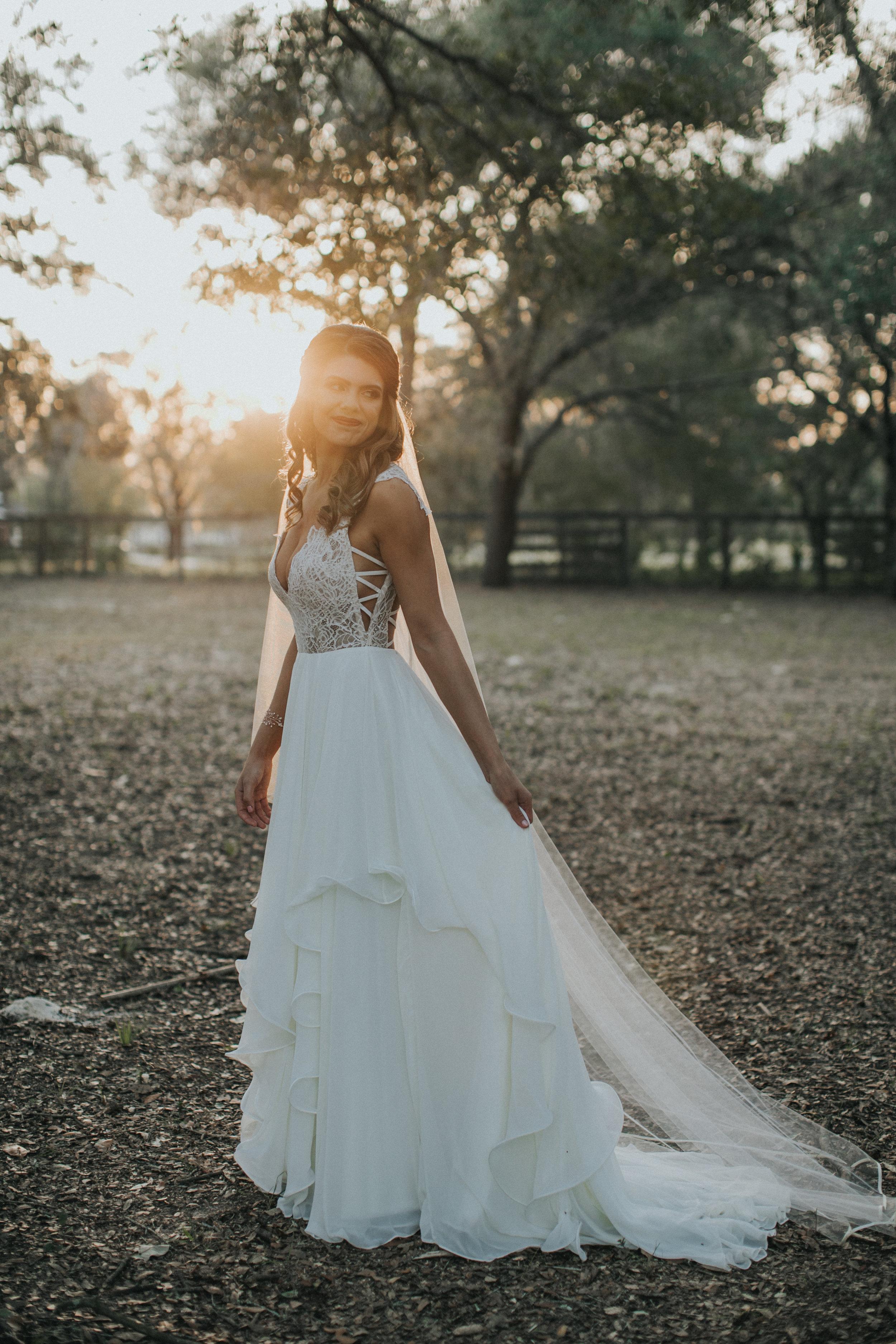 Nancy, beautiful blushing bride